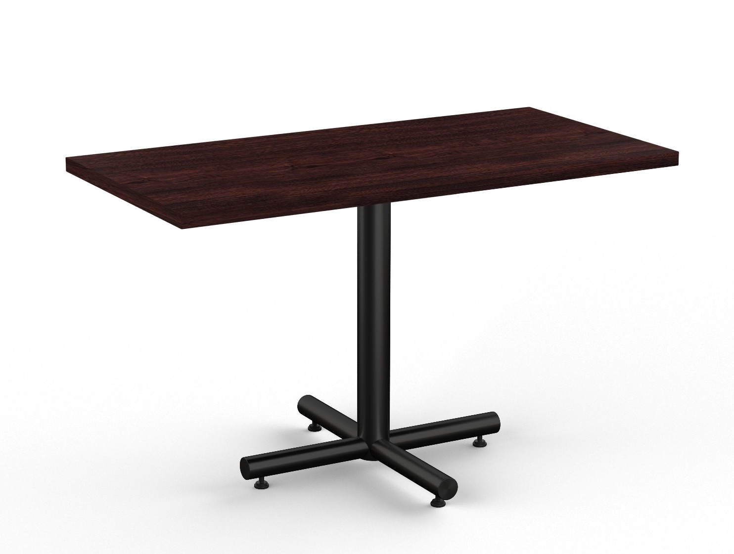 espresso finished classix rectangular cafe table