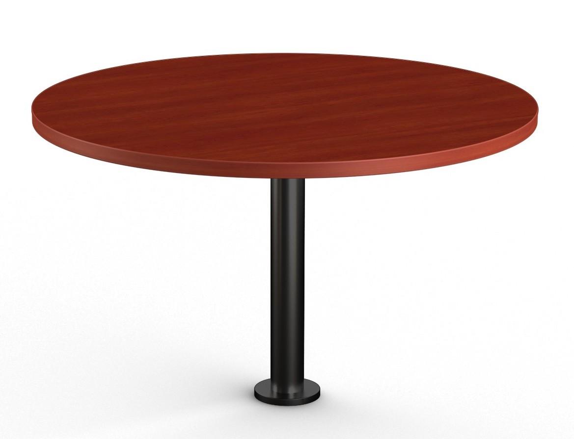 cherry floor mounted round table