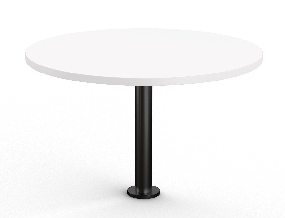 white floor mounted round table