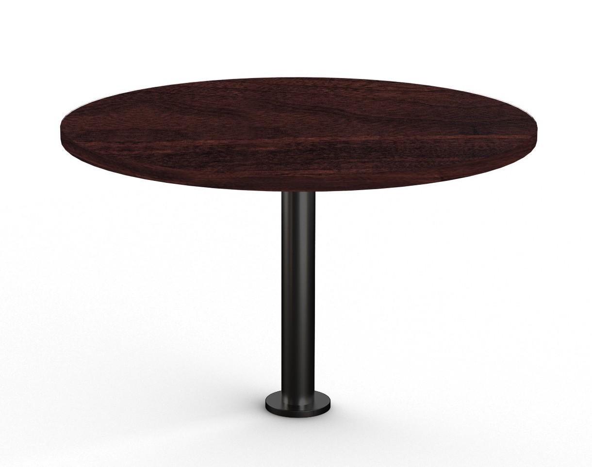 espresso floor mounted round table