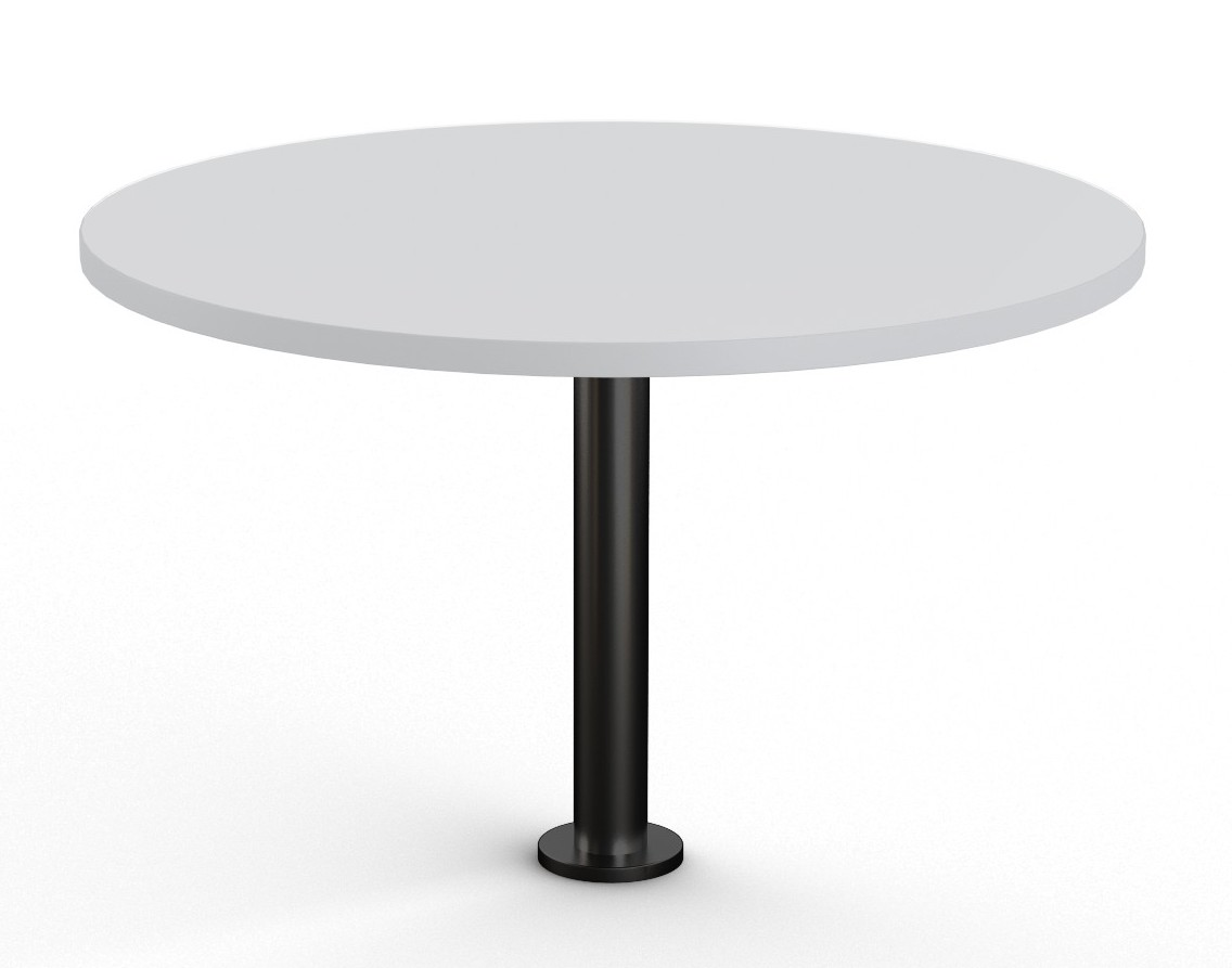 light grey floor mounted round table