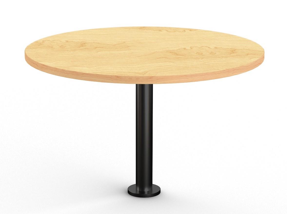 crema maple floor mounted round table