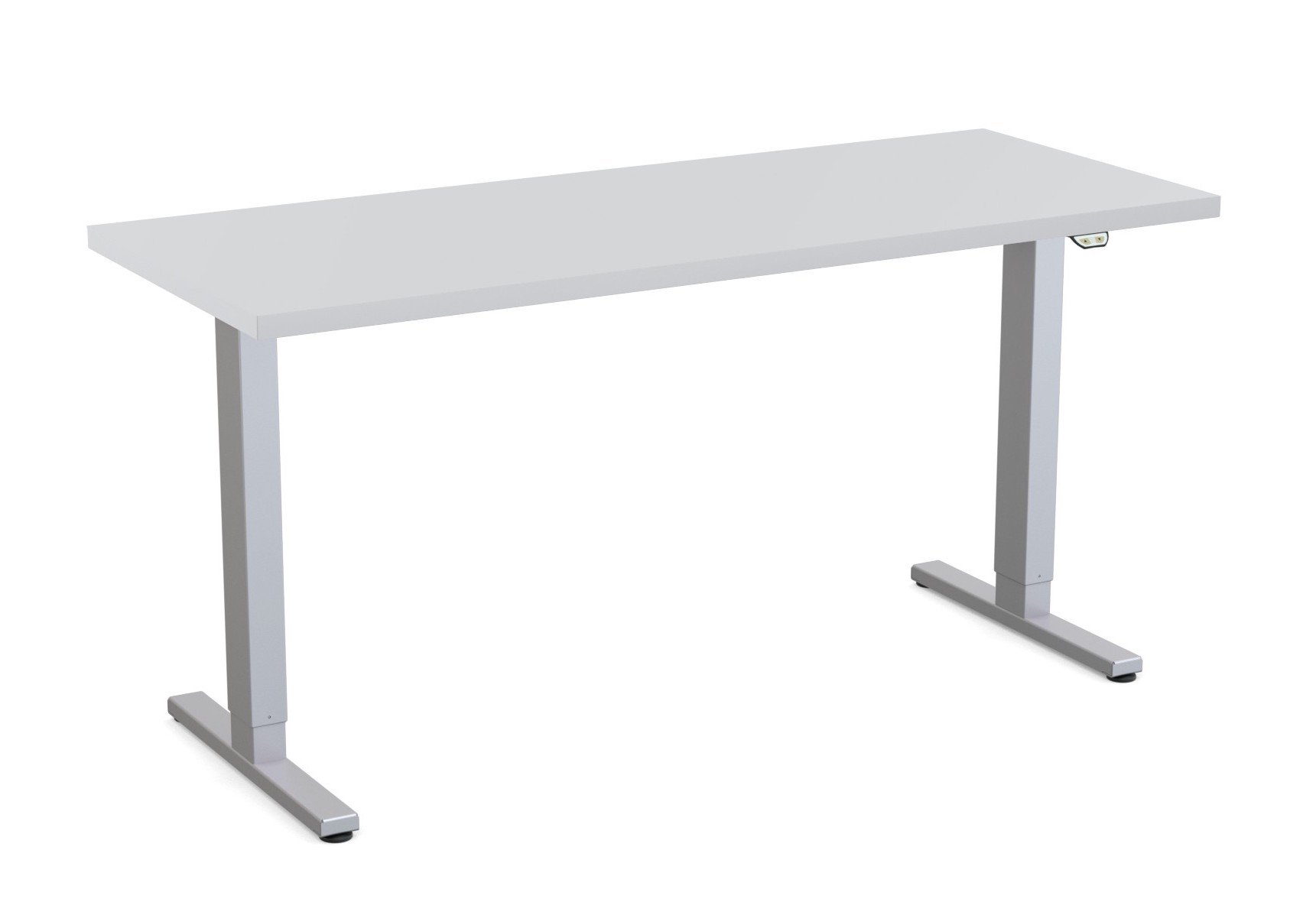 special-t liberty height adjustable table light grey