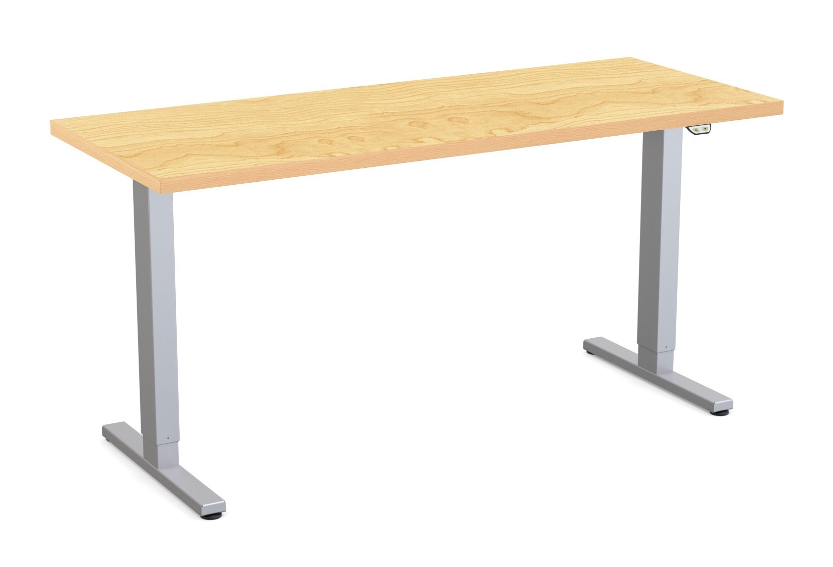 special-t liberty height adjustable table crema maple