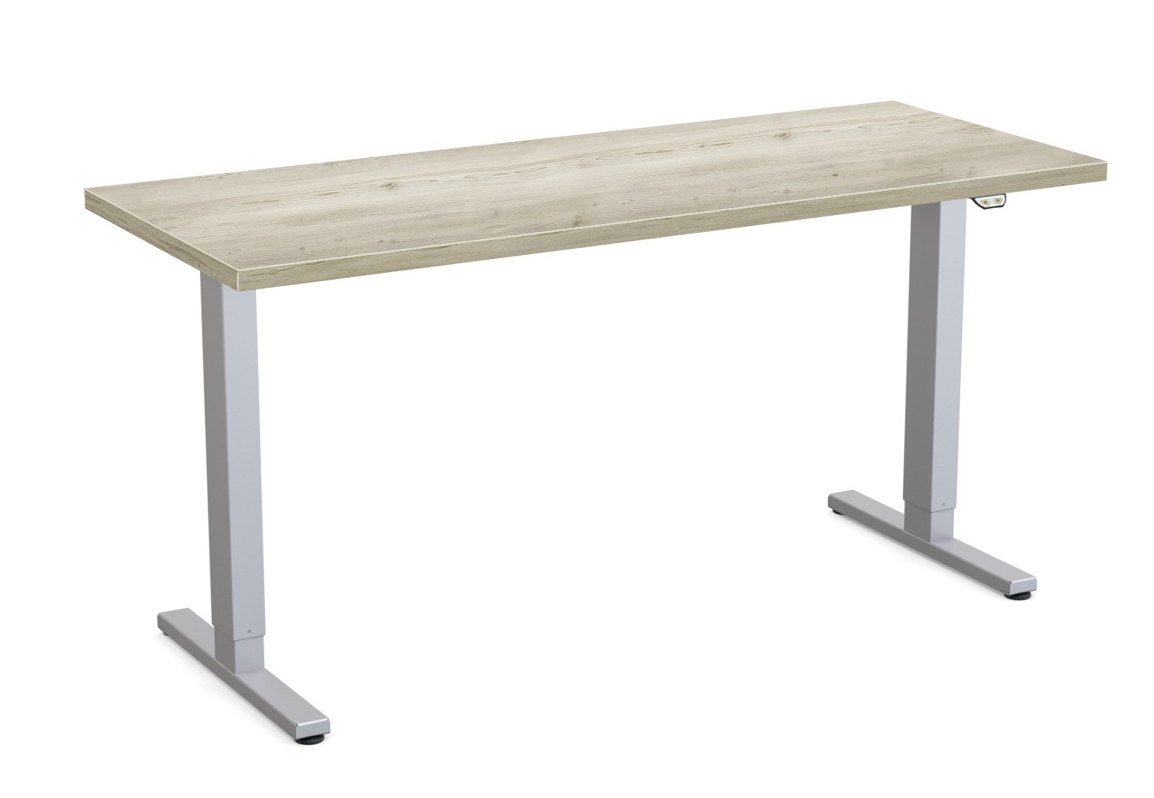 special-t liberty height adjustable table aged driftwood