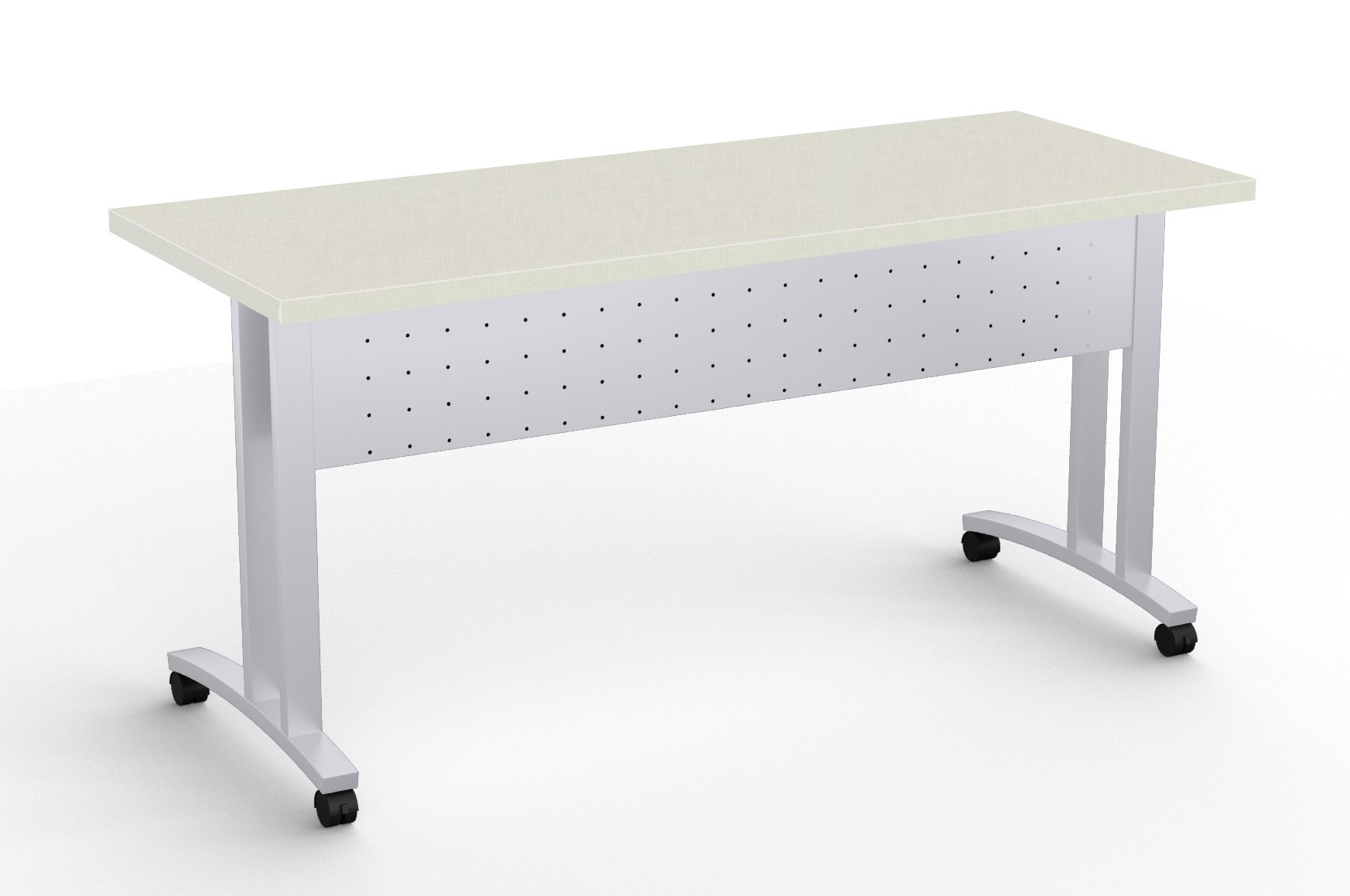 structure c leg flip top training room table in canvas