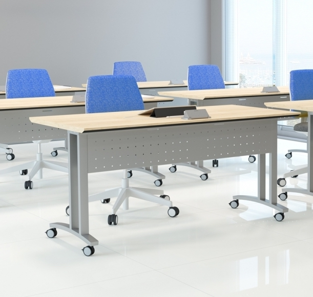 structure c leg flip top training room table by special-t