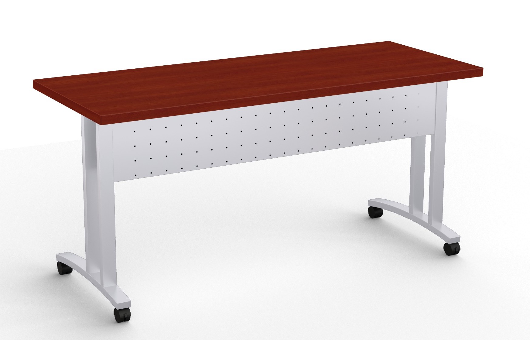 structure c leg flip top training room table in cherry