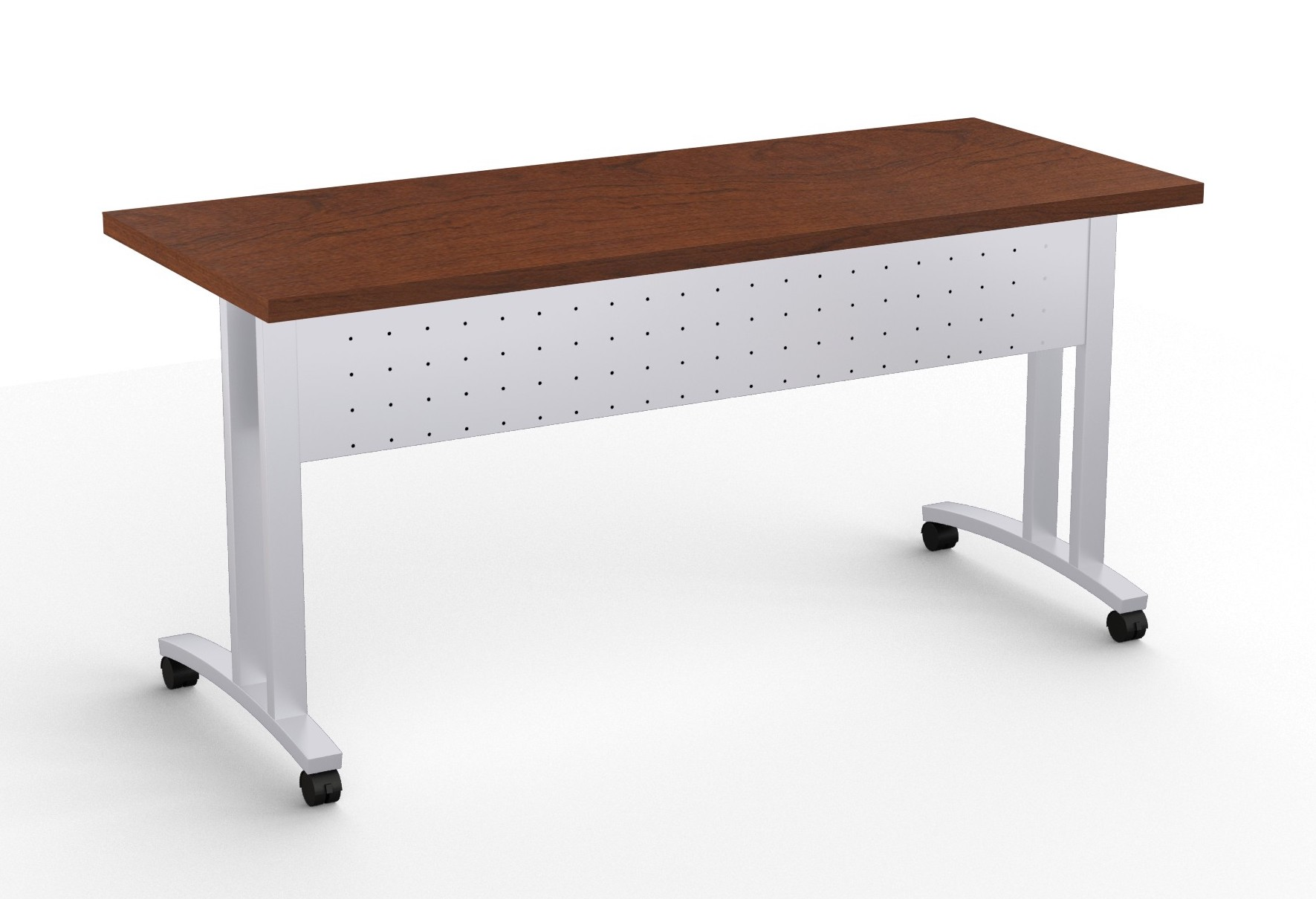 structure c leg flip top training room table in mahogany