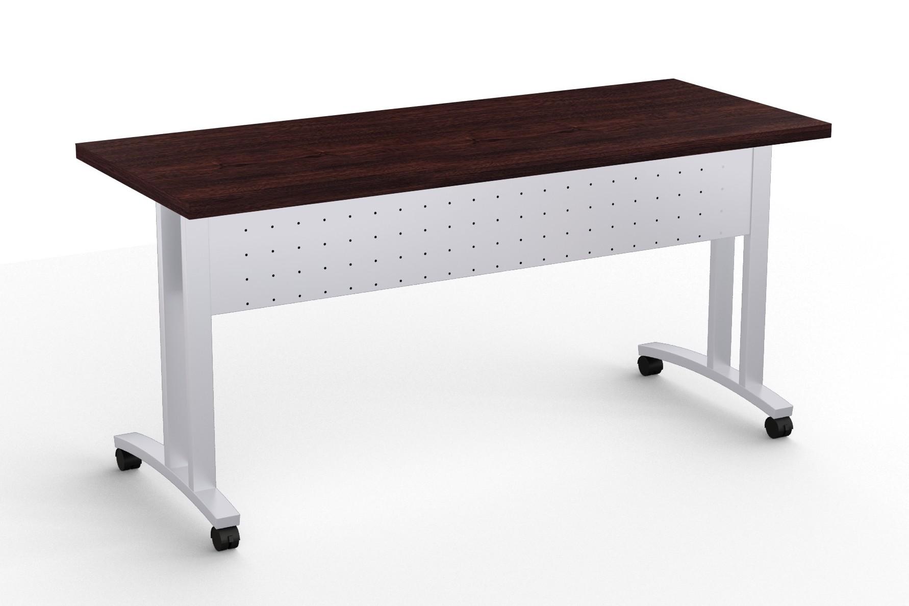 structure c leg flip top training room table in espresso
