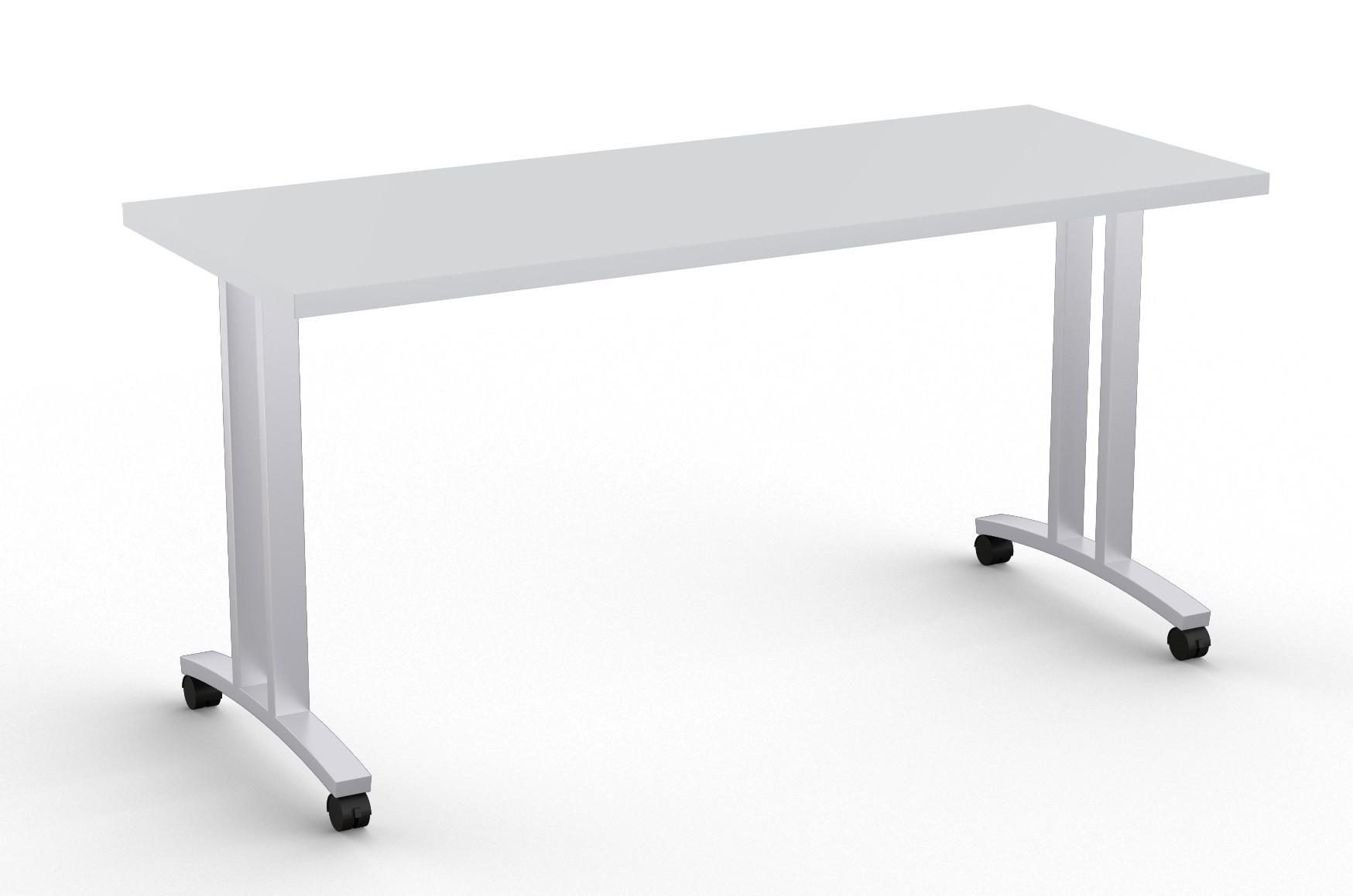 special-t structure t leg training table in light grey
