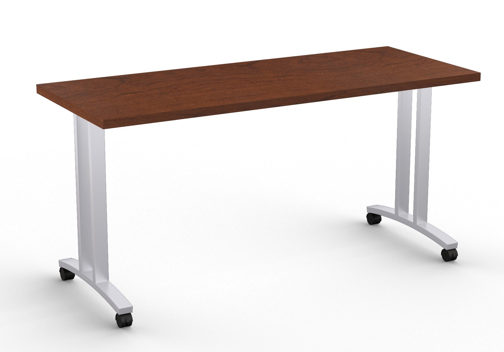 special-t structure t leg training table in mahogany