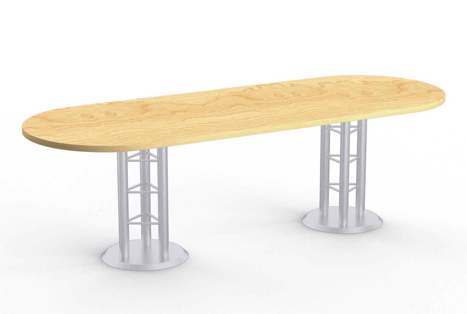 atlantis racetrack conference table - kensington maple