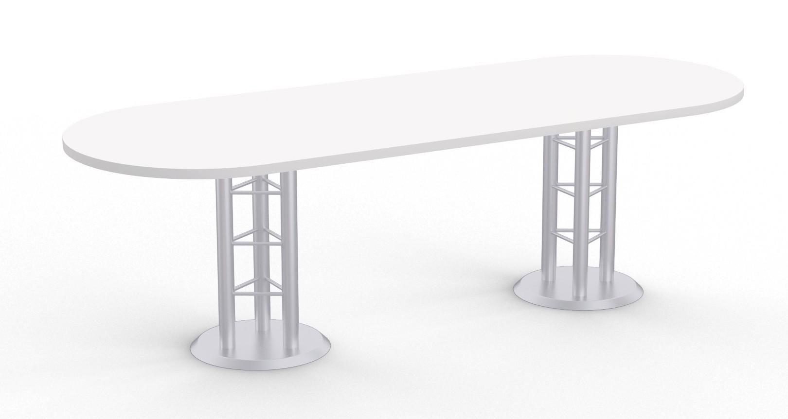 atlantis racetrack conference table - designer white