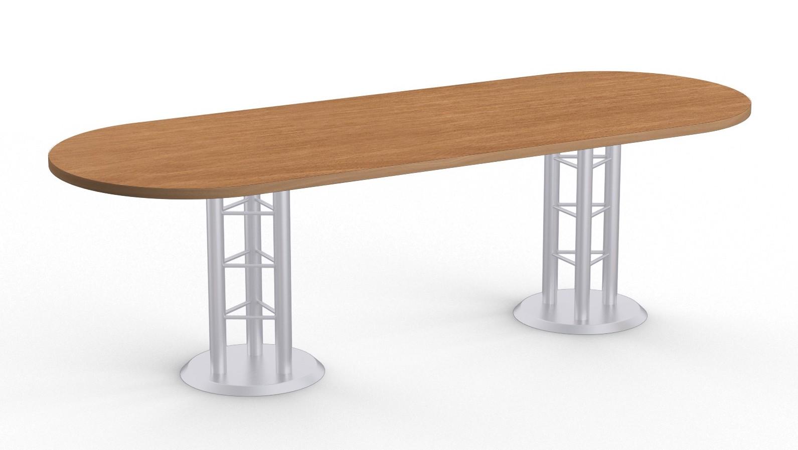 atlantis racetrack conference table - brazilwood