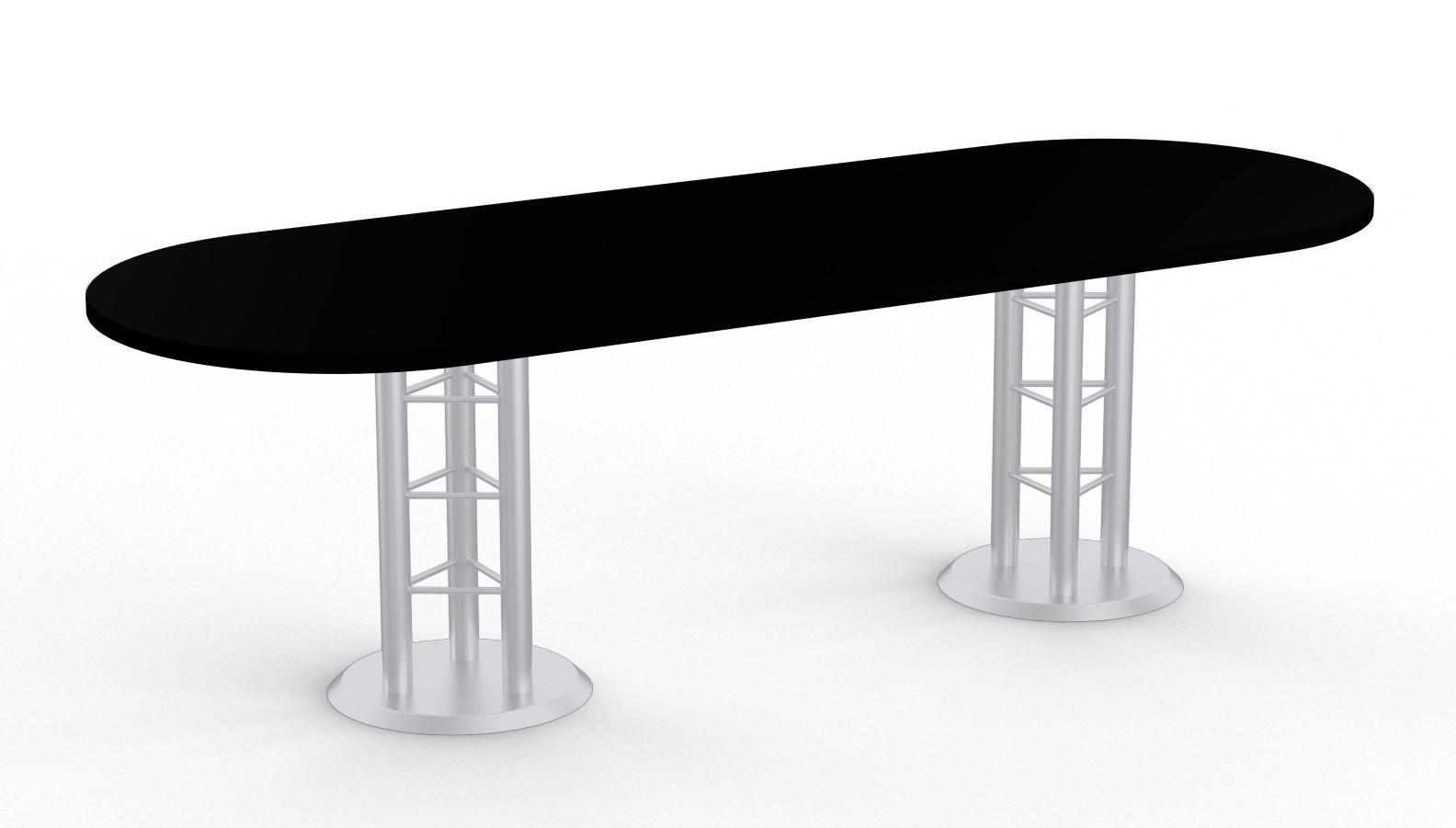 atlantis racetrack conference table - black