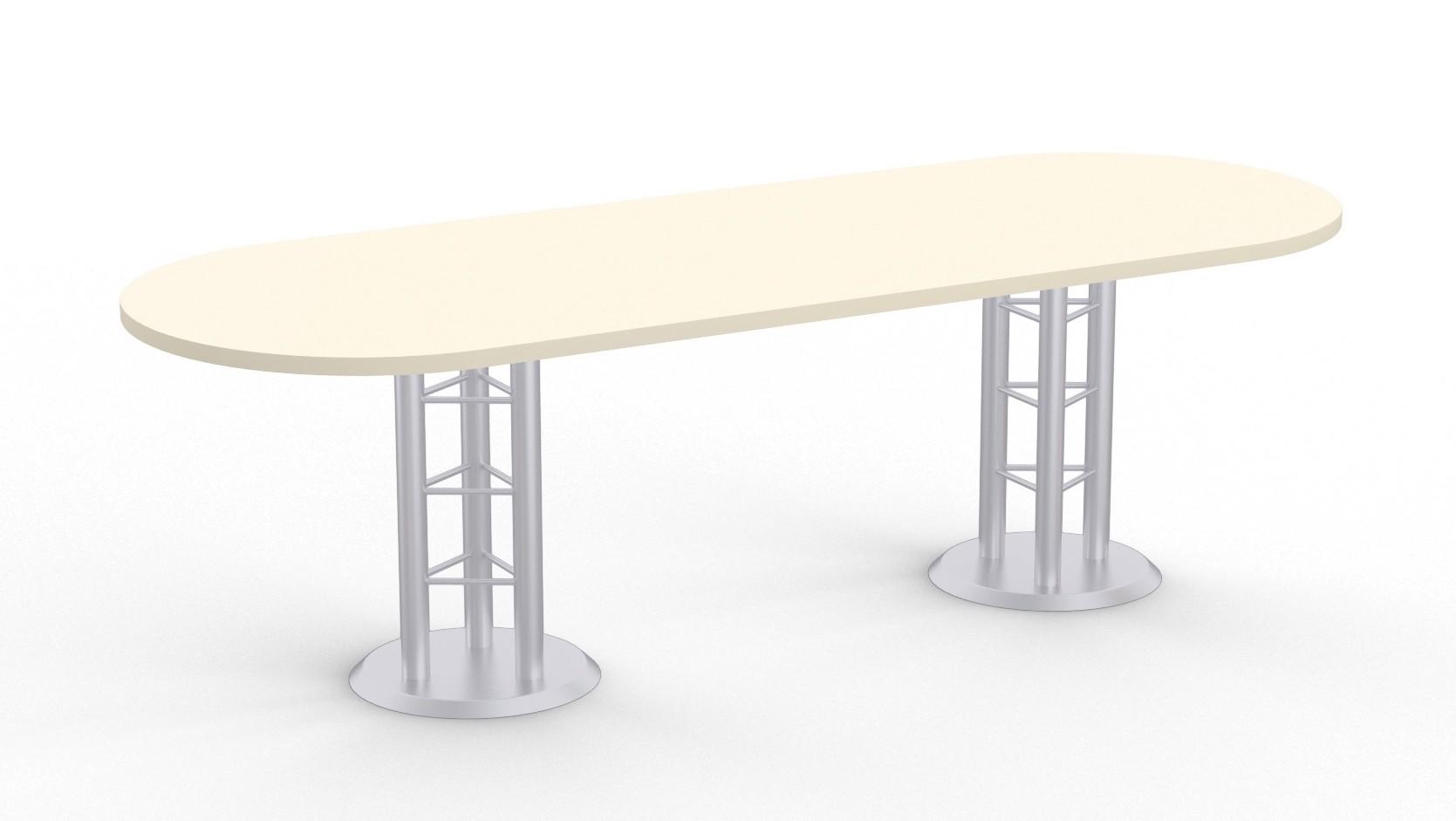 atlantis racetrack conference table - antique white