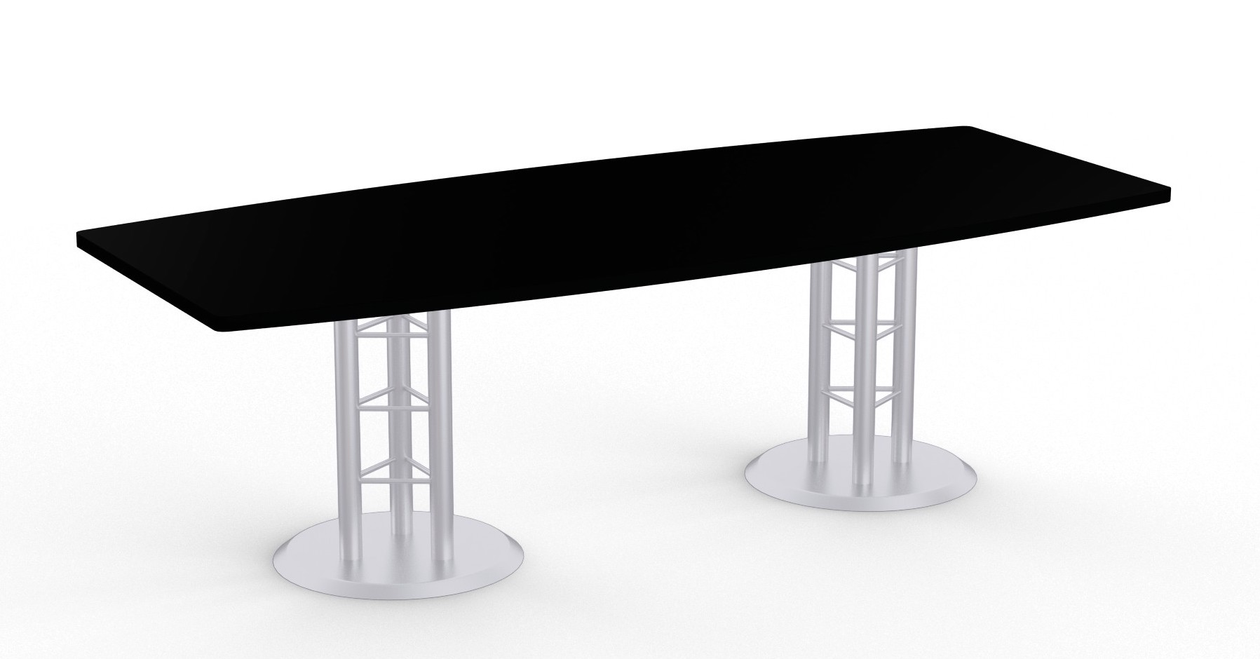atlantis boat shaped table in black