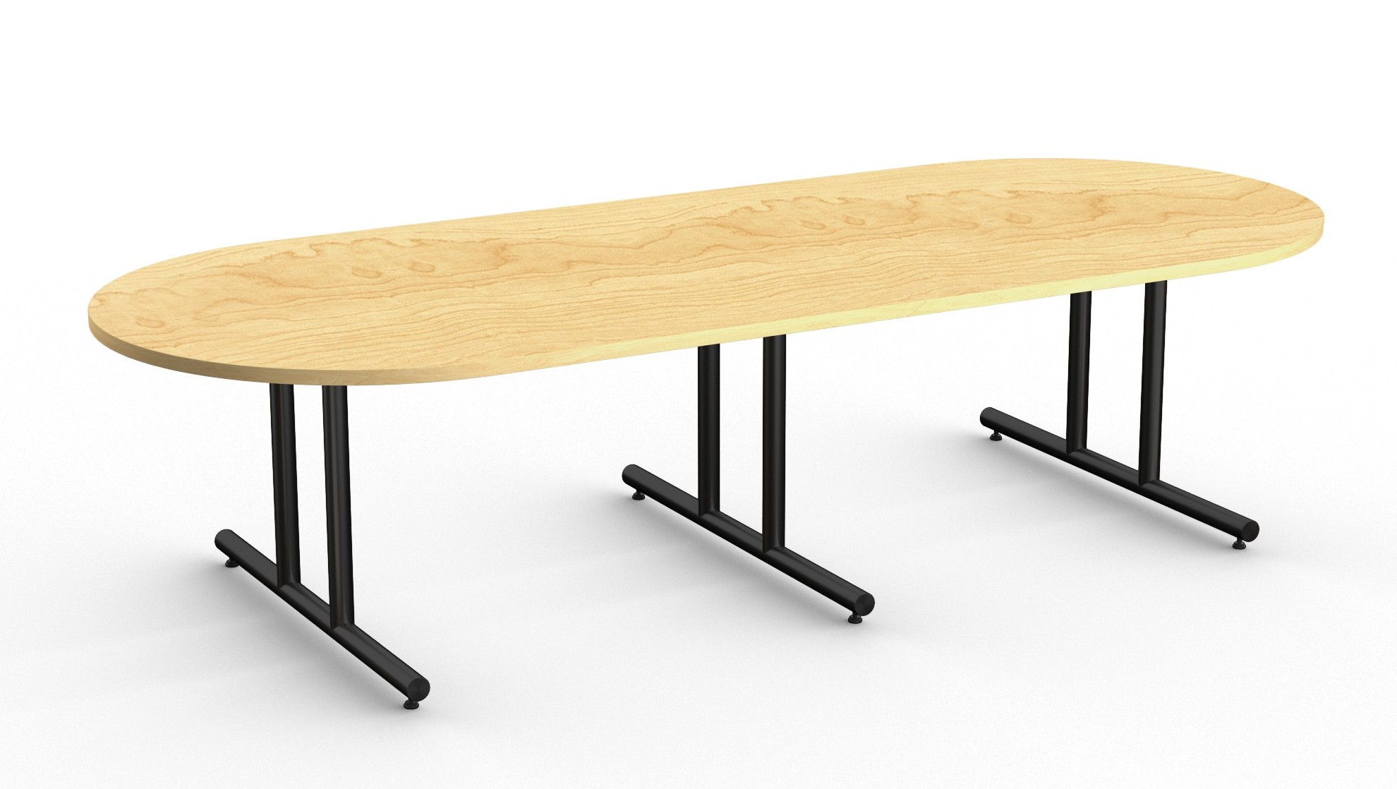 olympus large boardroom table with racetrack surface