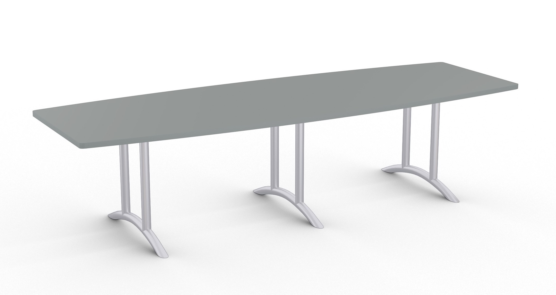 large boat shaped conference table