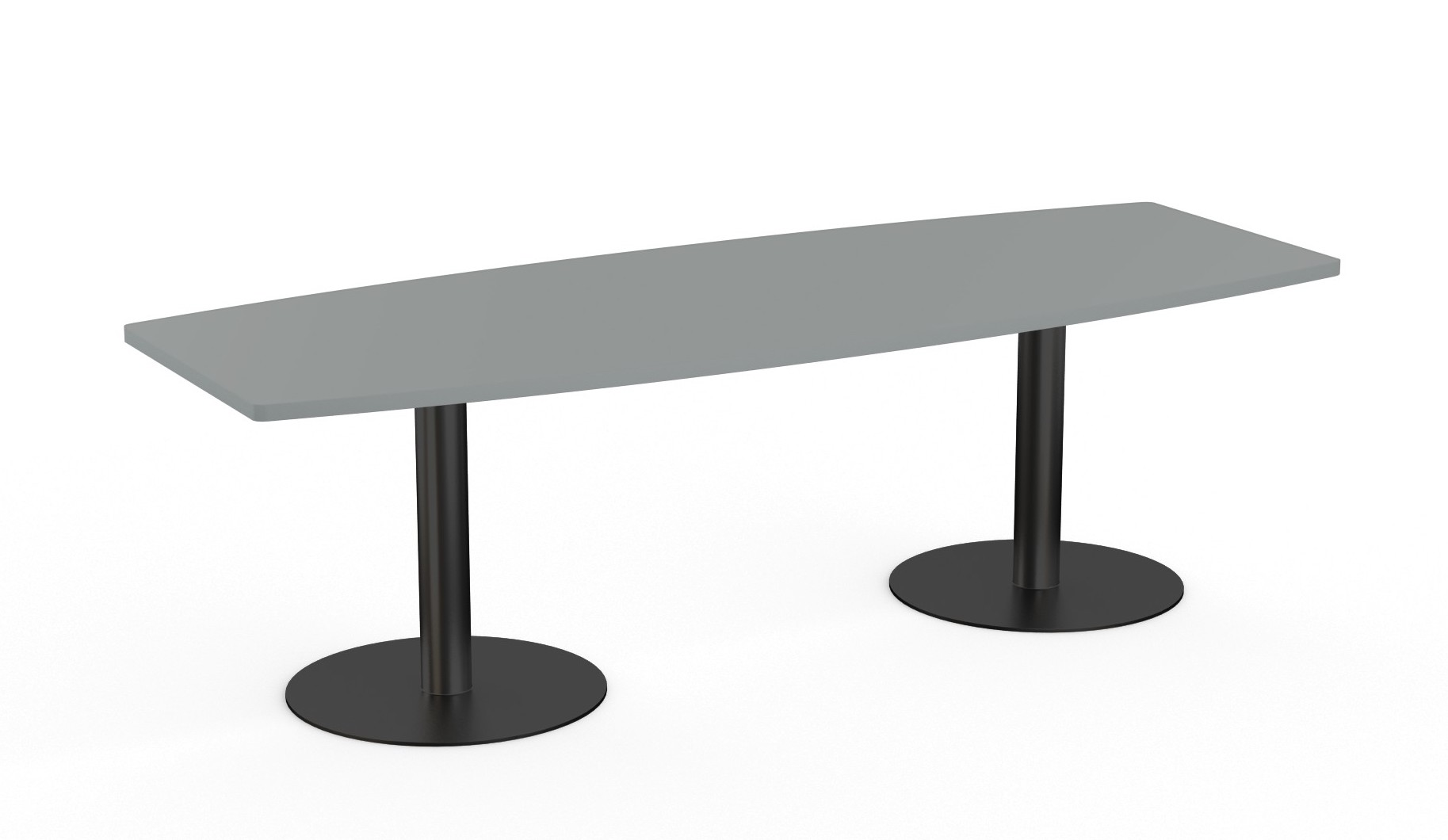 narrow boat shaped conference table - special-t sienna collection