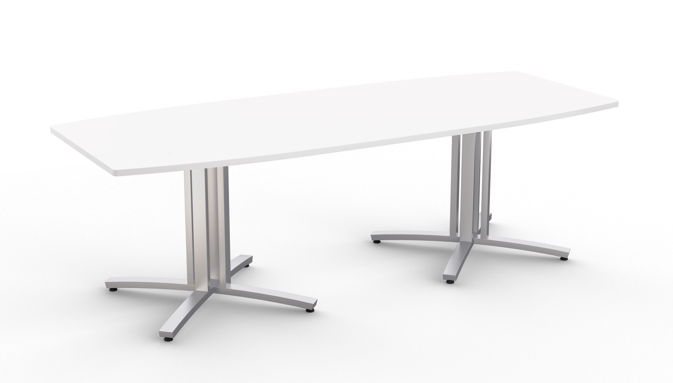 structure 4x boat shaped conference table