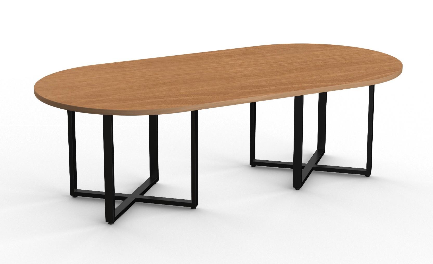 contemporary racetrack boardroom tables