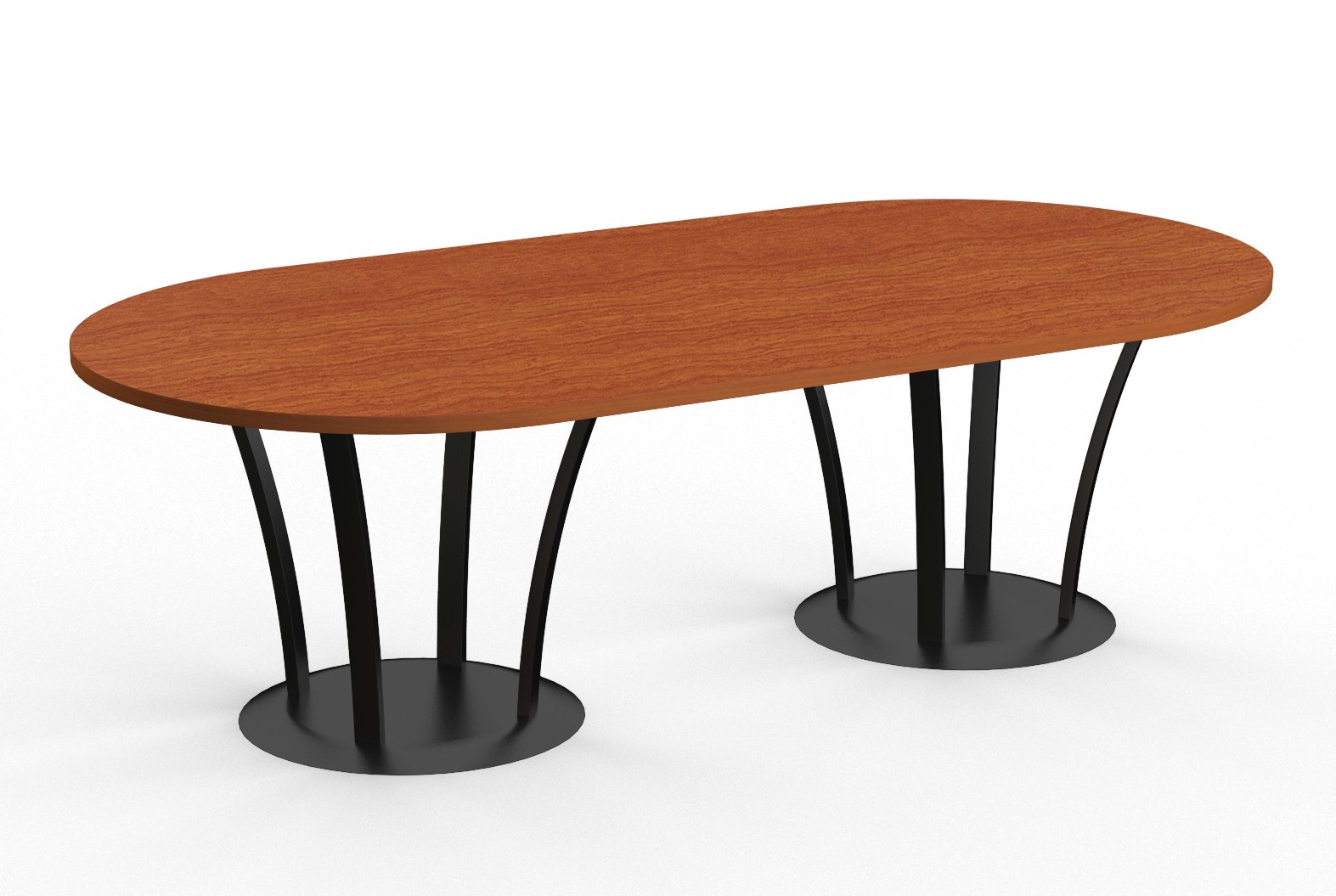 fountain base conference table with racetrack top