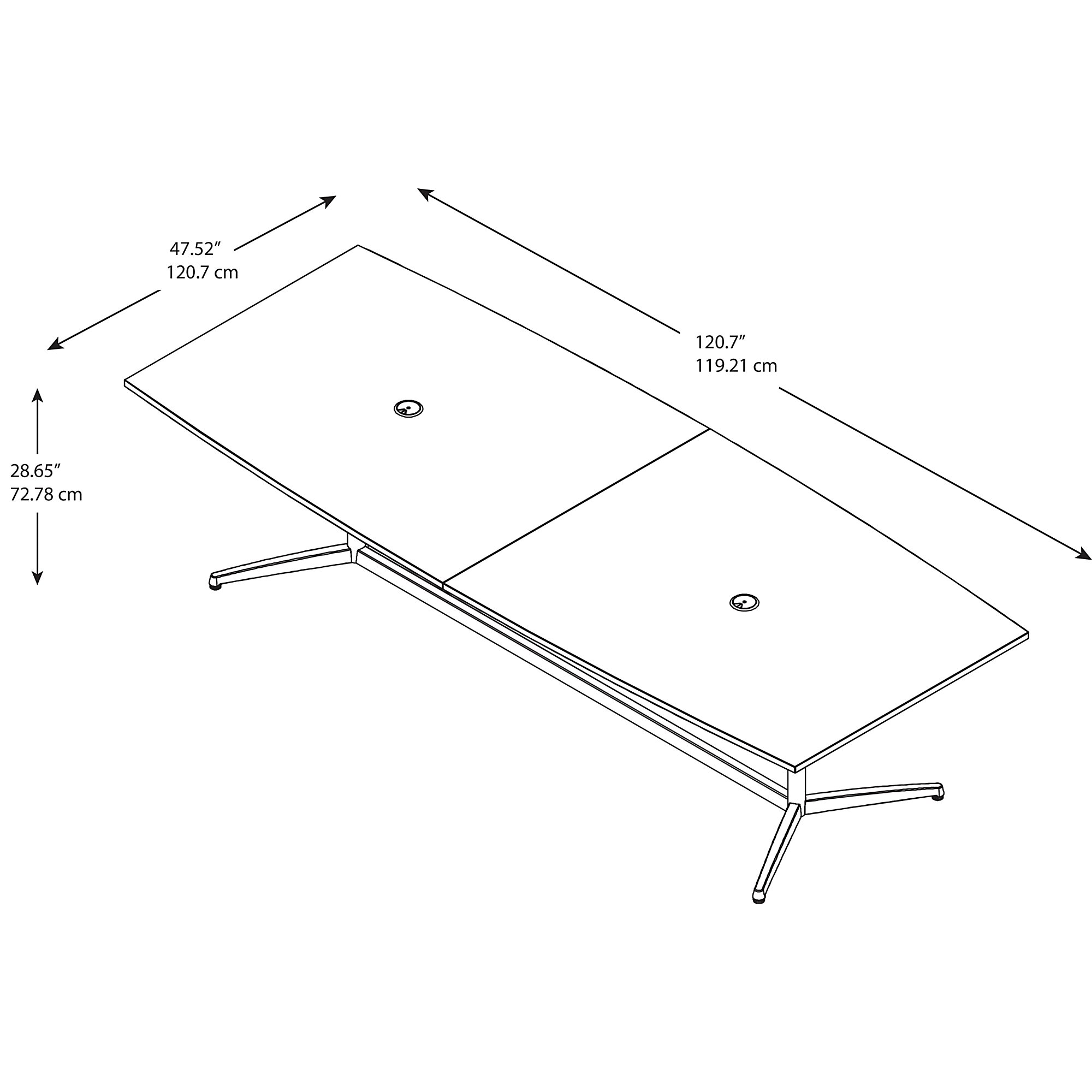 bbf conference table dimensions