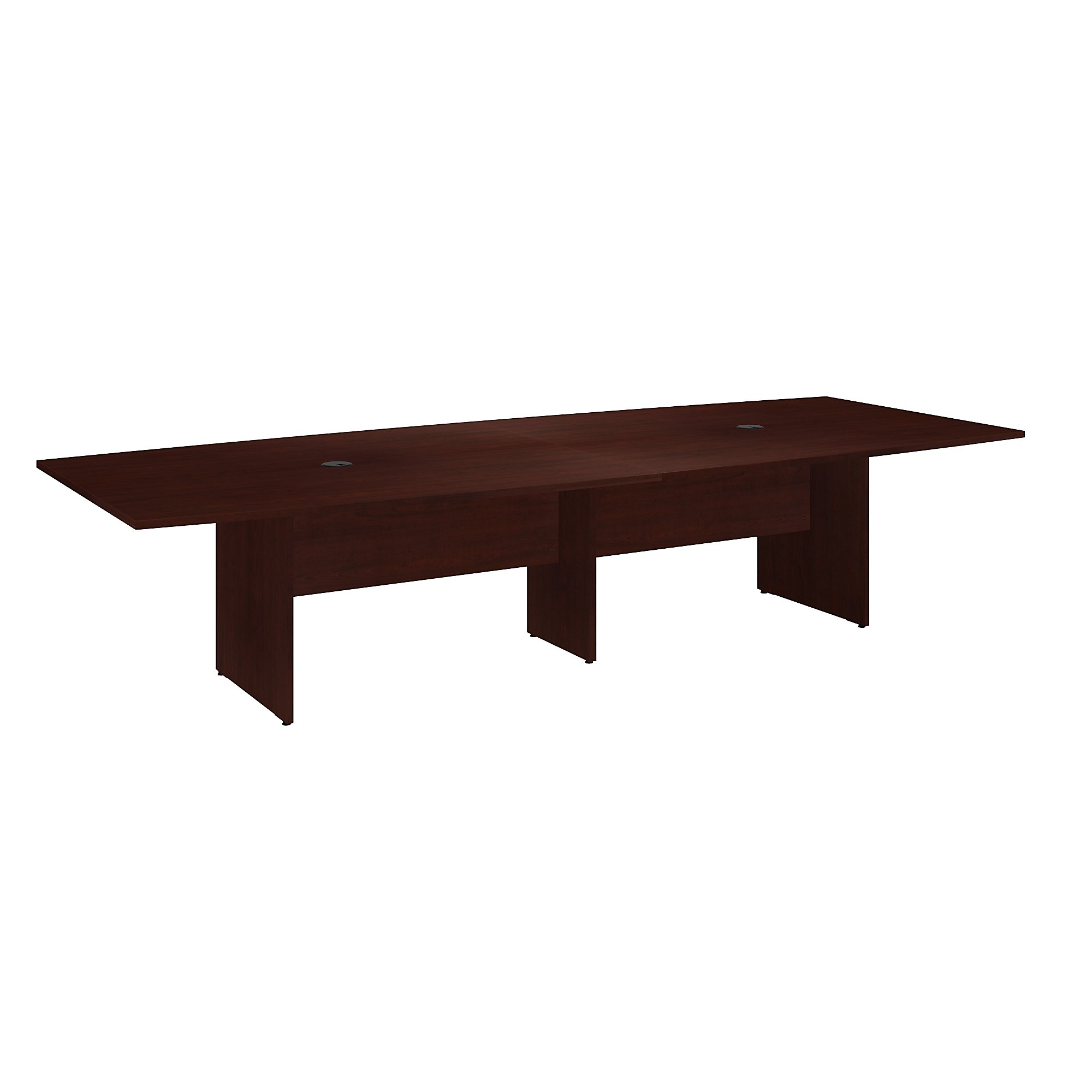 10' boat shaped conference table in harvest cherry