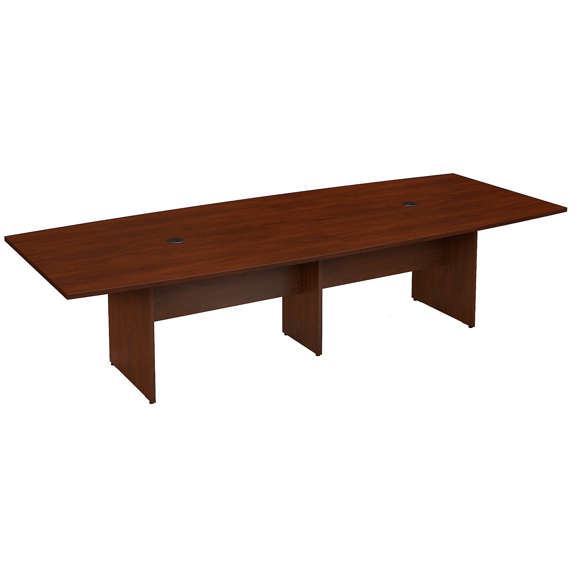 10' boat shaped conference table in hansen cherry