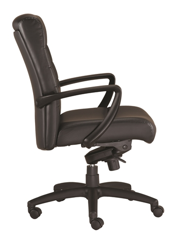Eurotech Seating Manchester Mid Back Leather Office Chair LE255 (2 Color Options Available!)