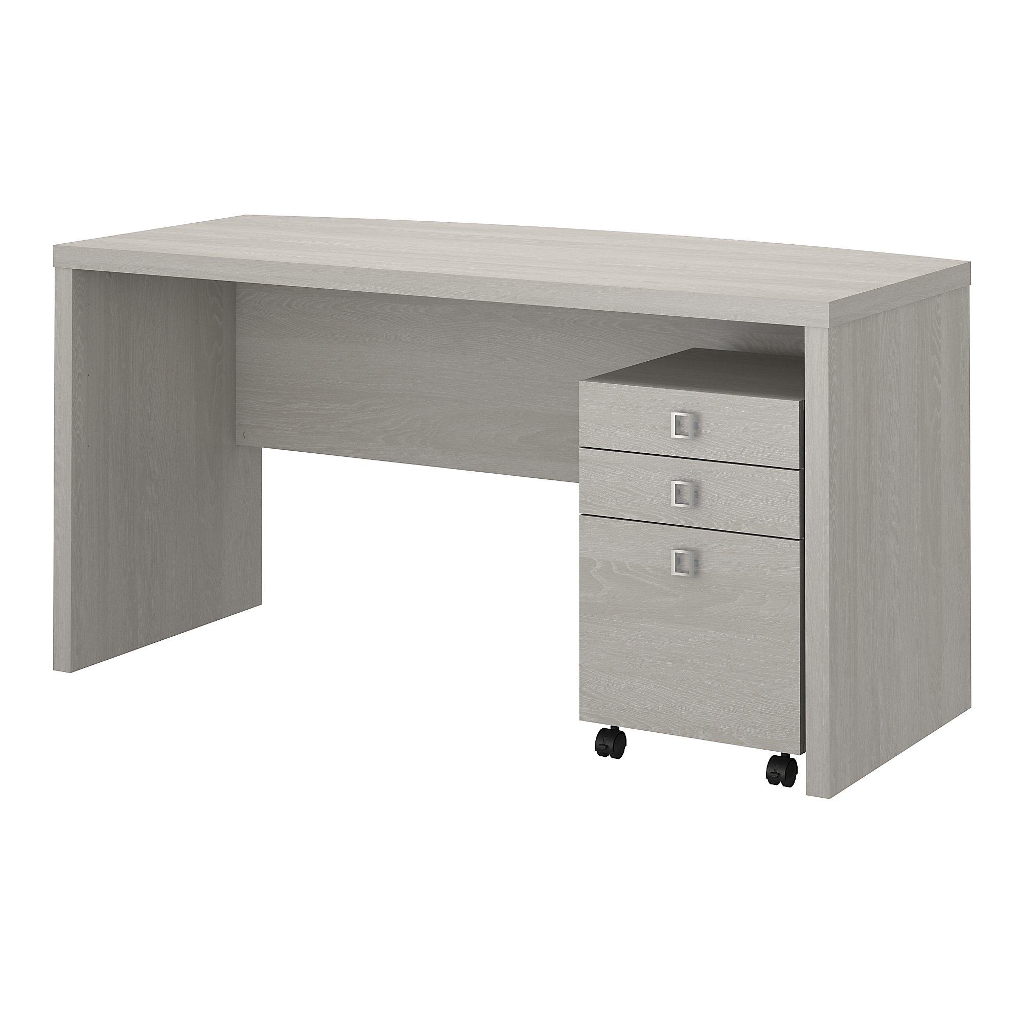 gray sand echo bow front desk