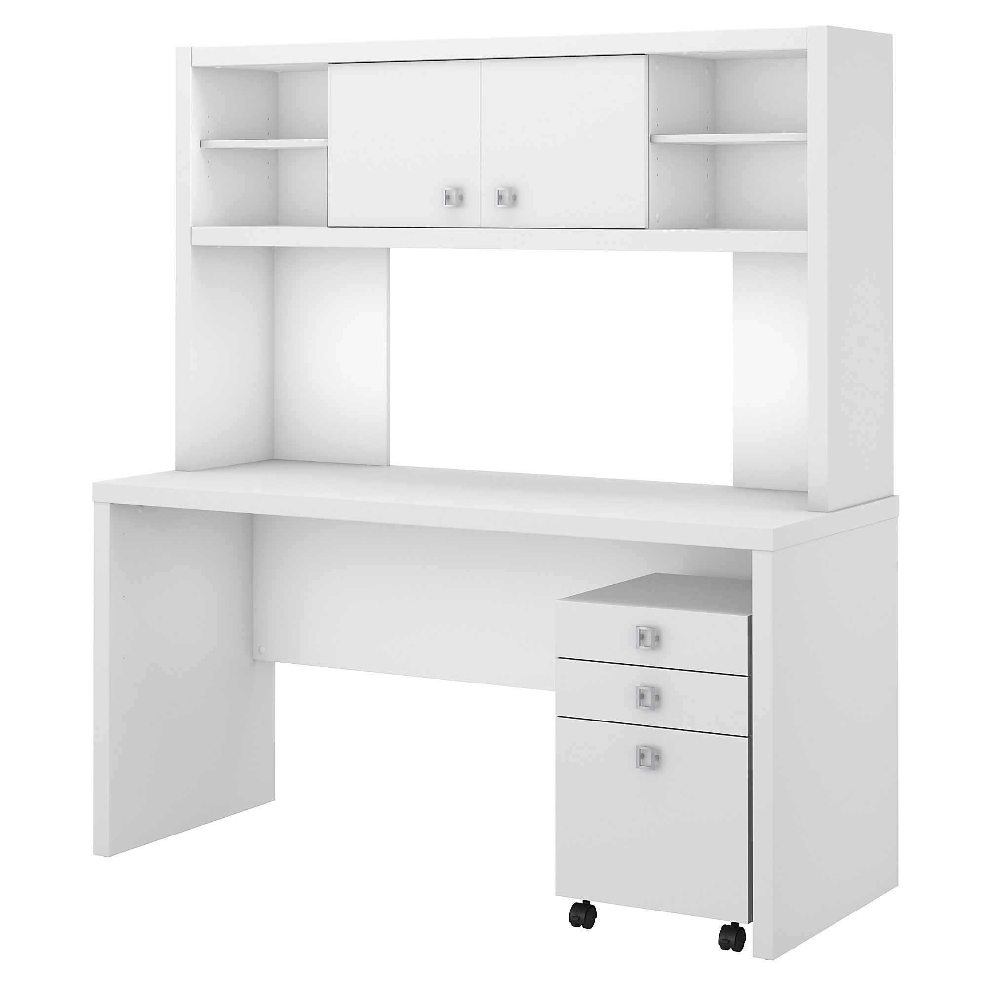 ech006 office by kathy ireland echo pure white configuration