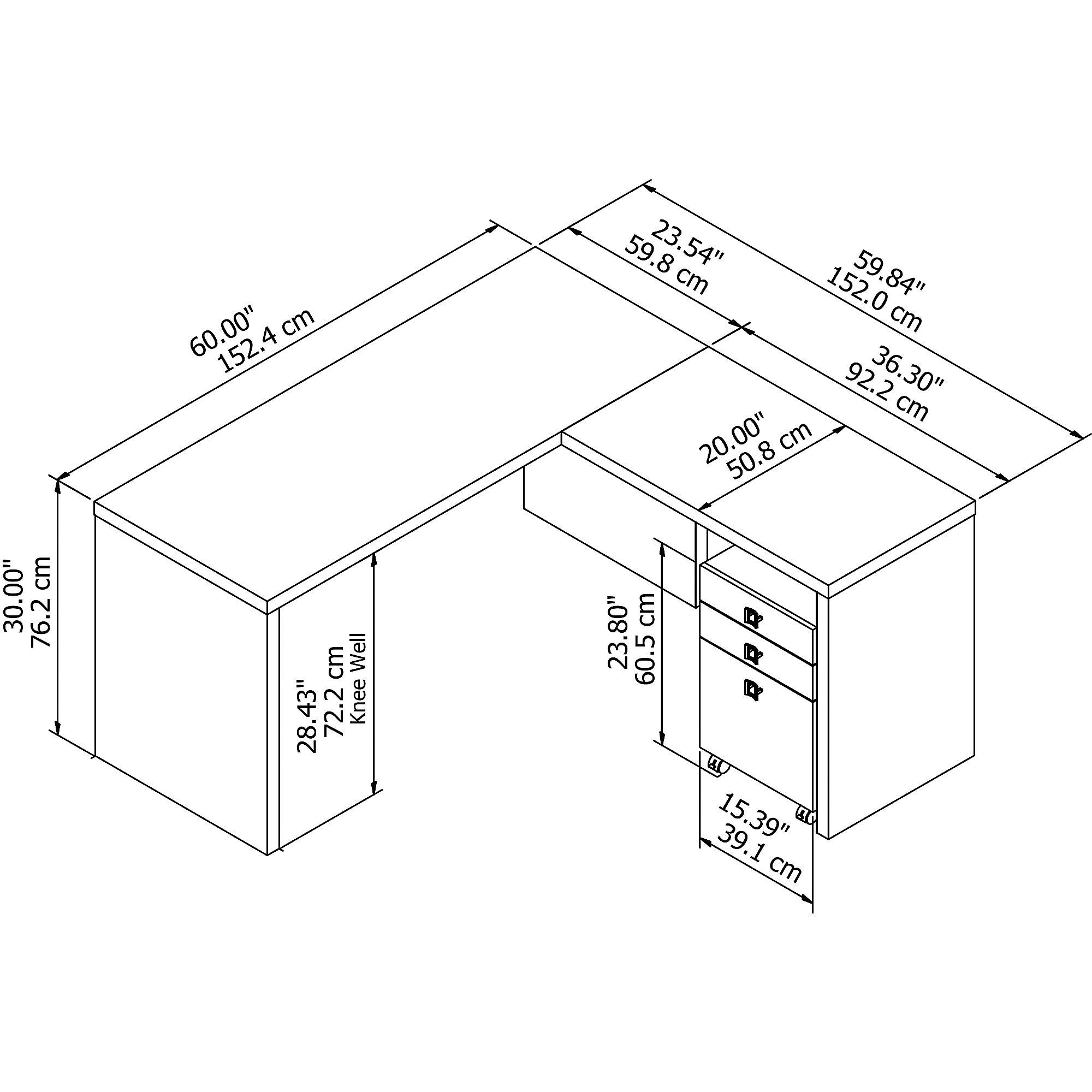 ech008 desk dimensions