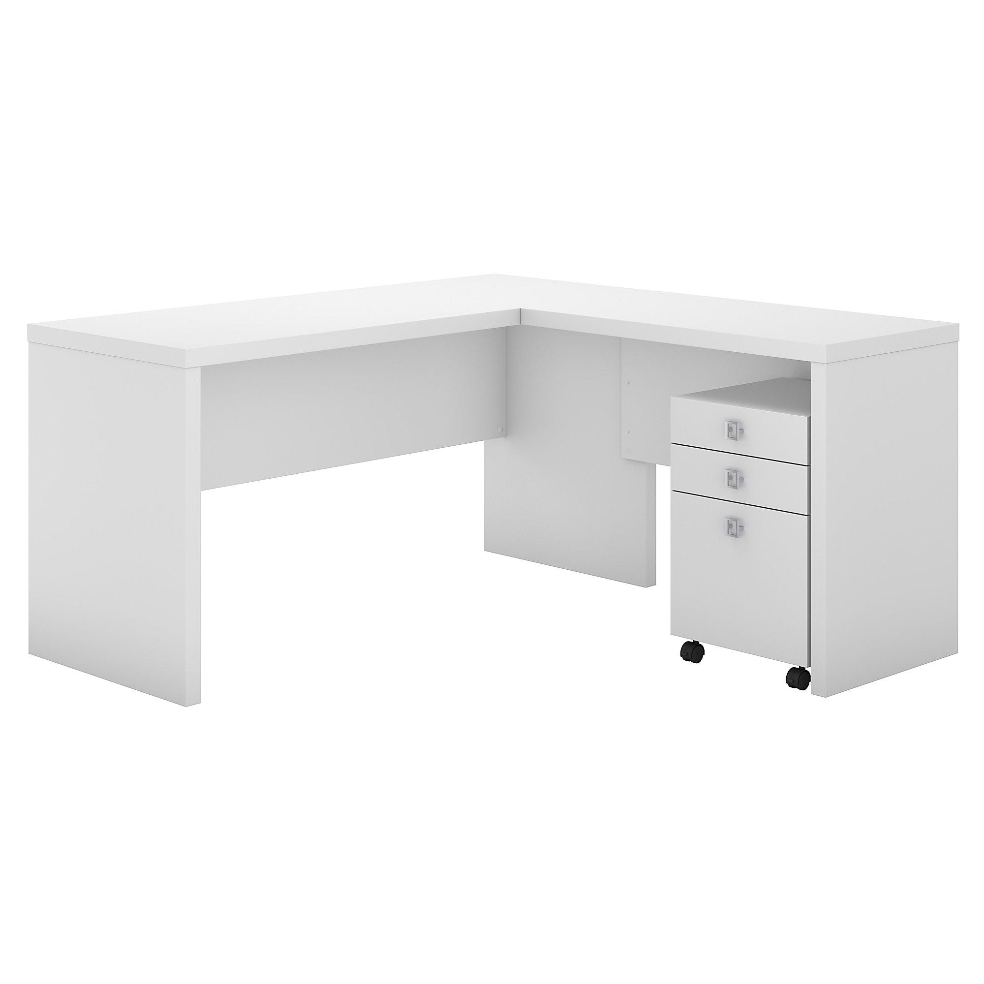 pure white l desk