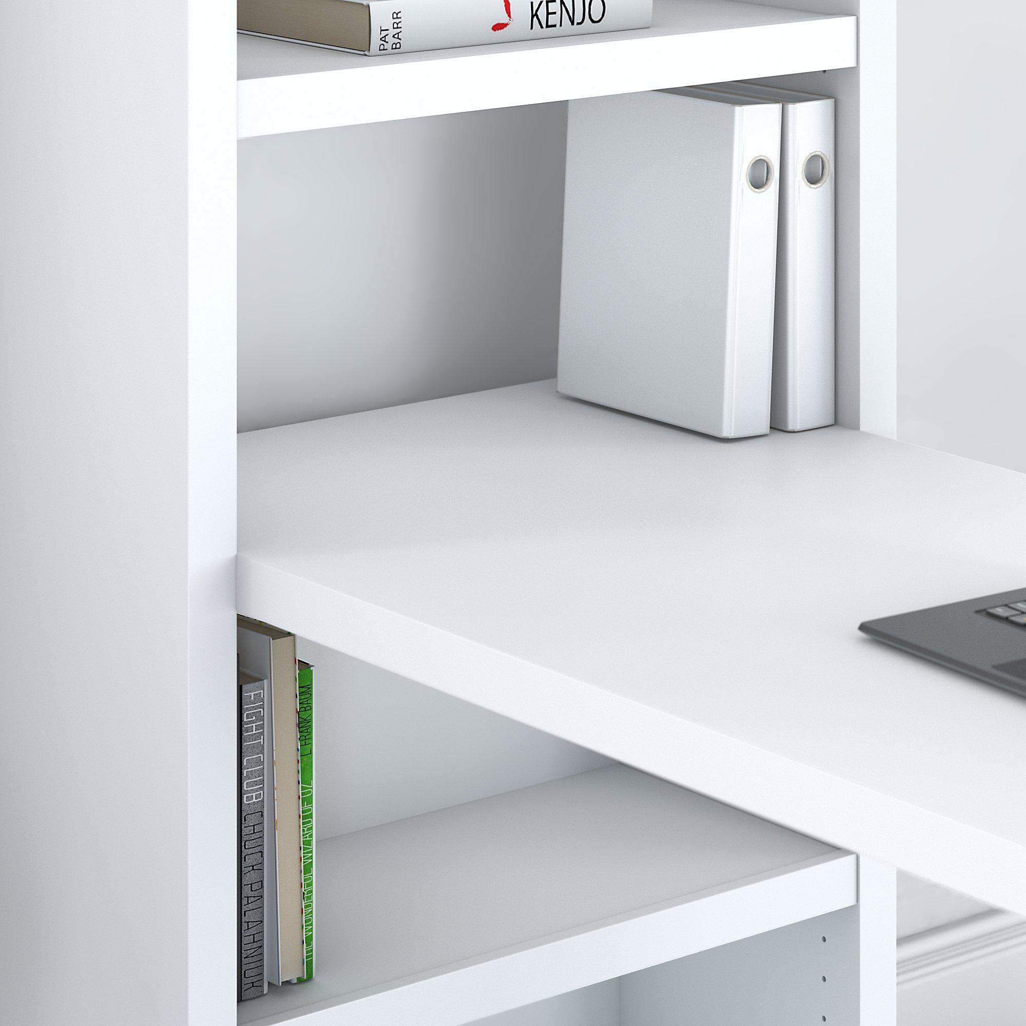 echo pure white desk up close