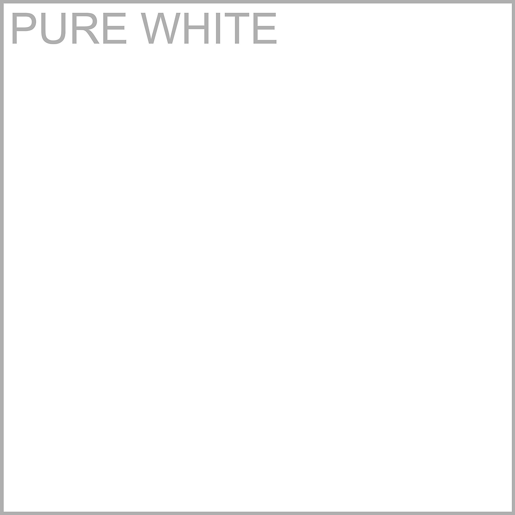 pure white laminate finish