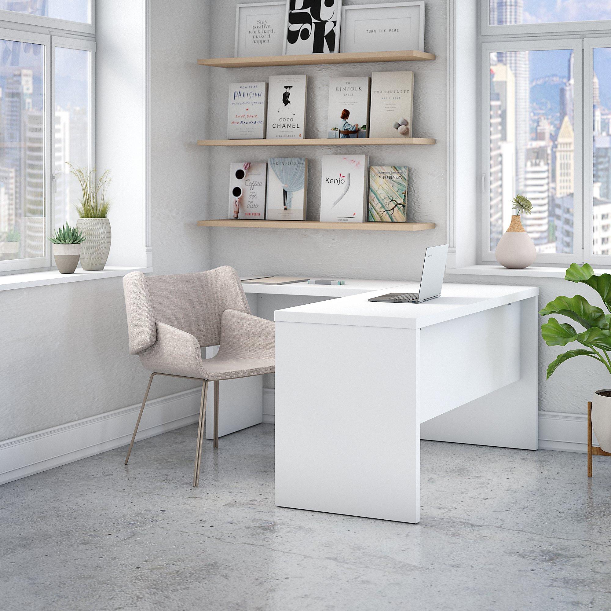 pure white echo l desk