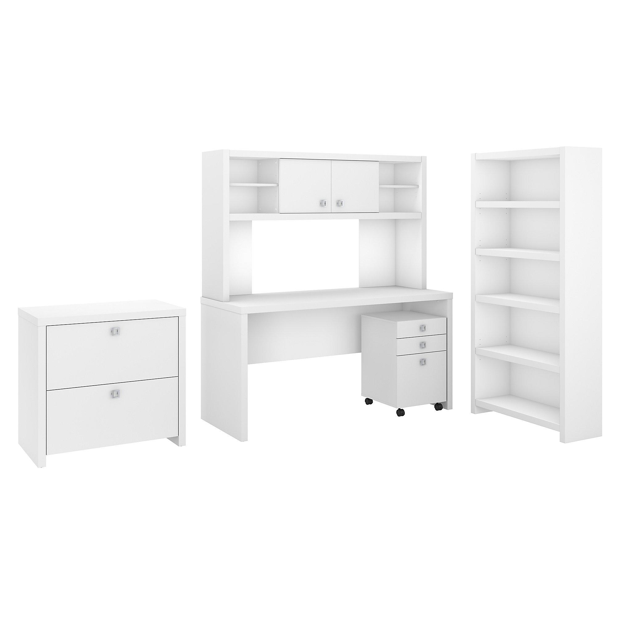pure white echo executive desk configuration