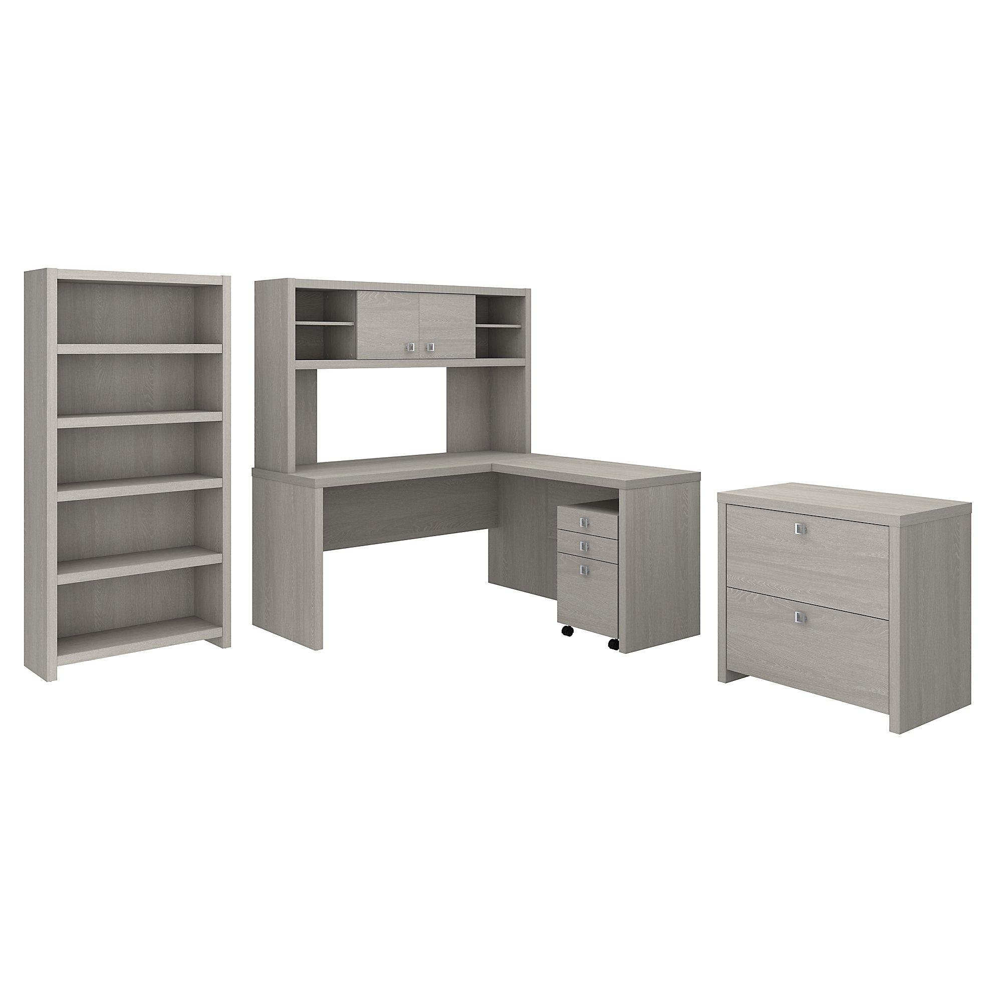 sand gray echo executive desk set