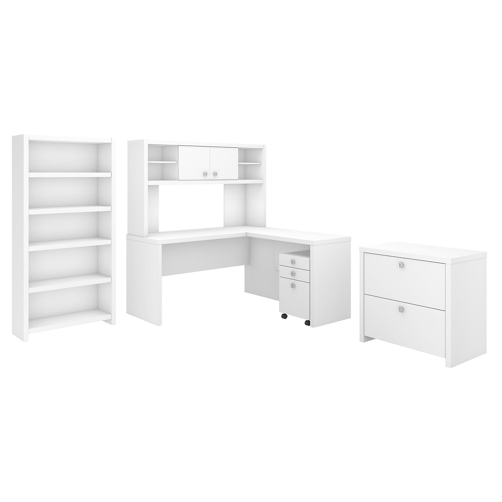 pure white echo executive desk set
