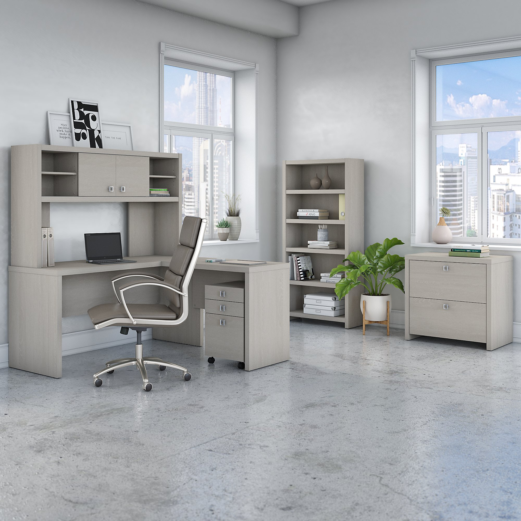 sand gray echo executive furniture set