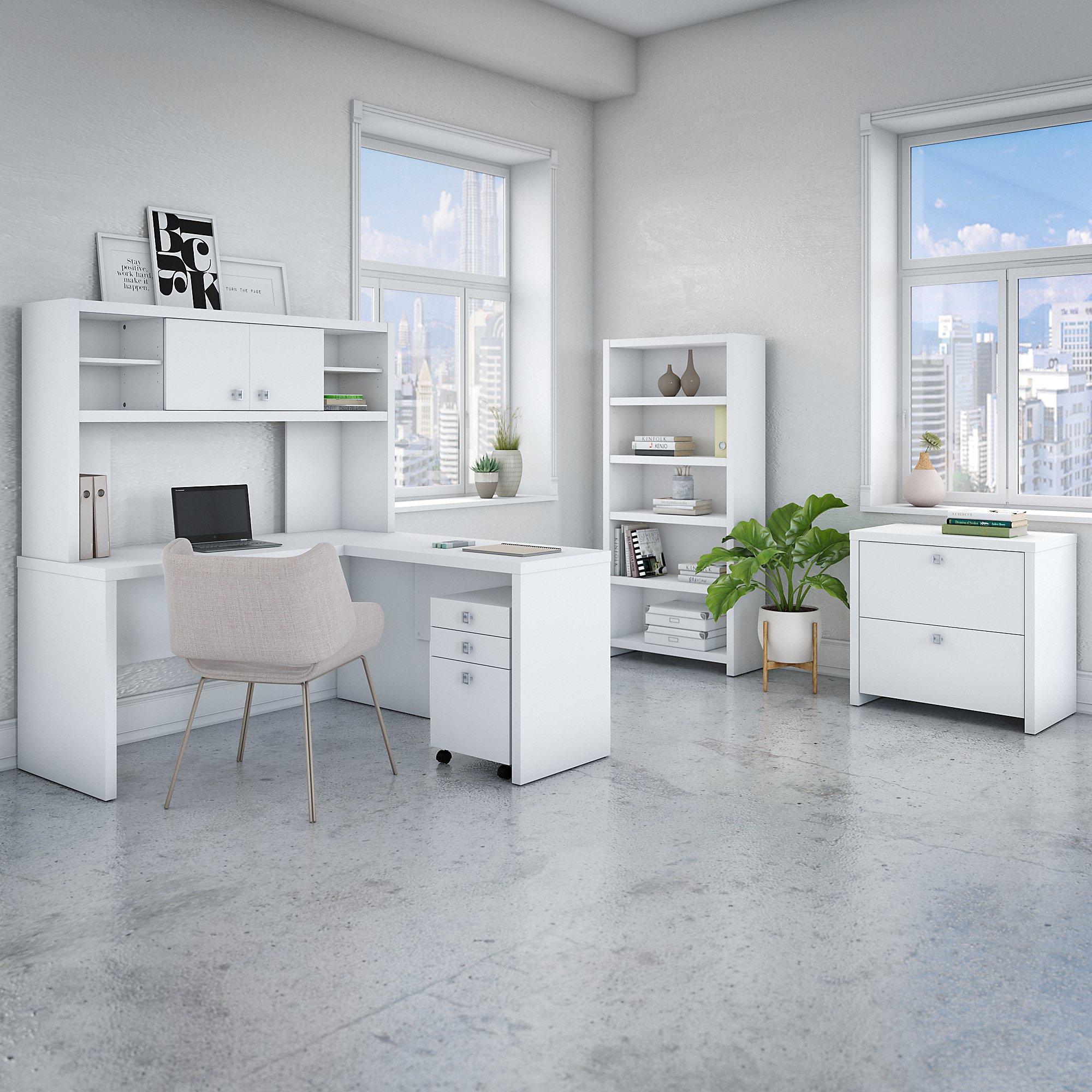 pure white echo executive furniture set