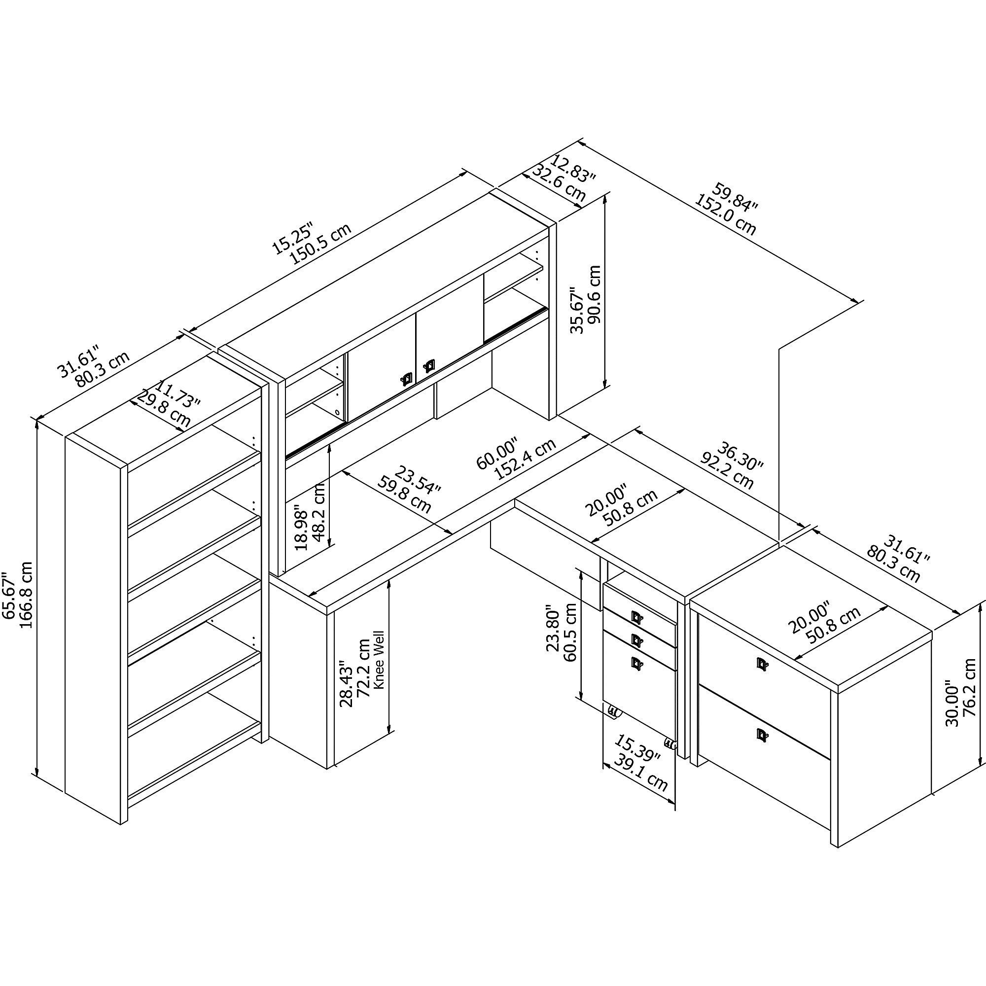 ech028 echo desk dimensions