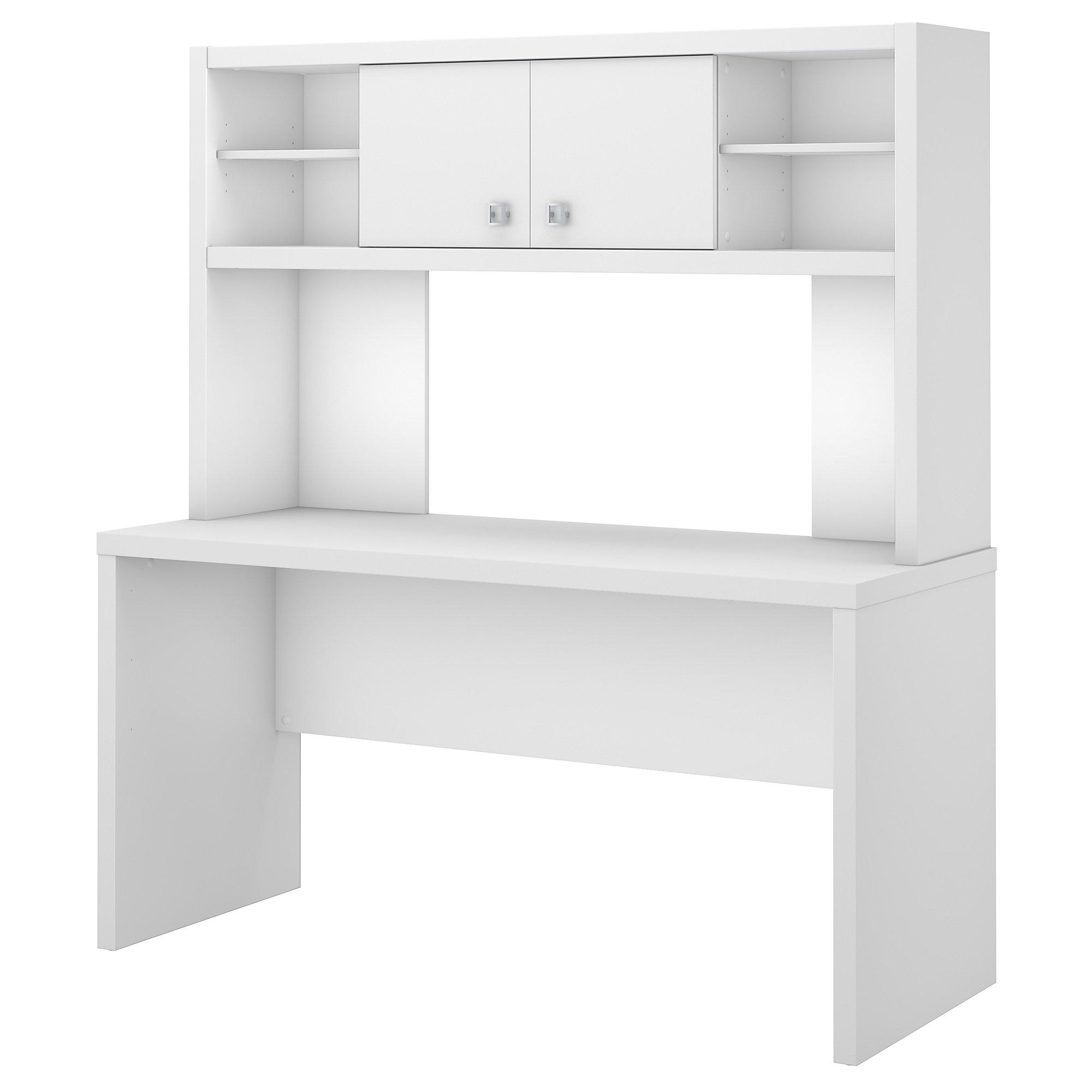 pure white credenza desk