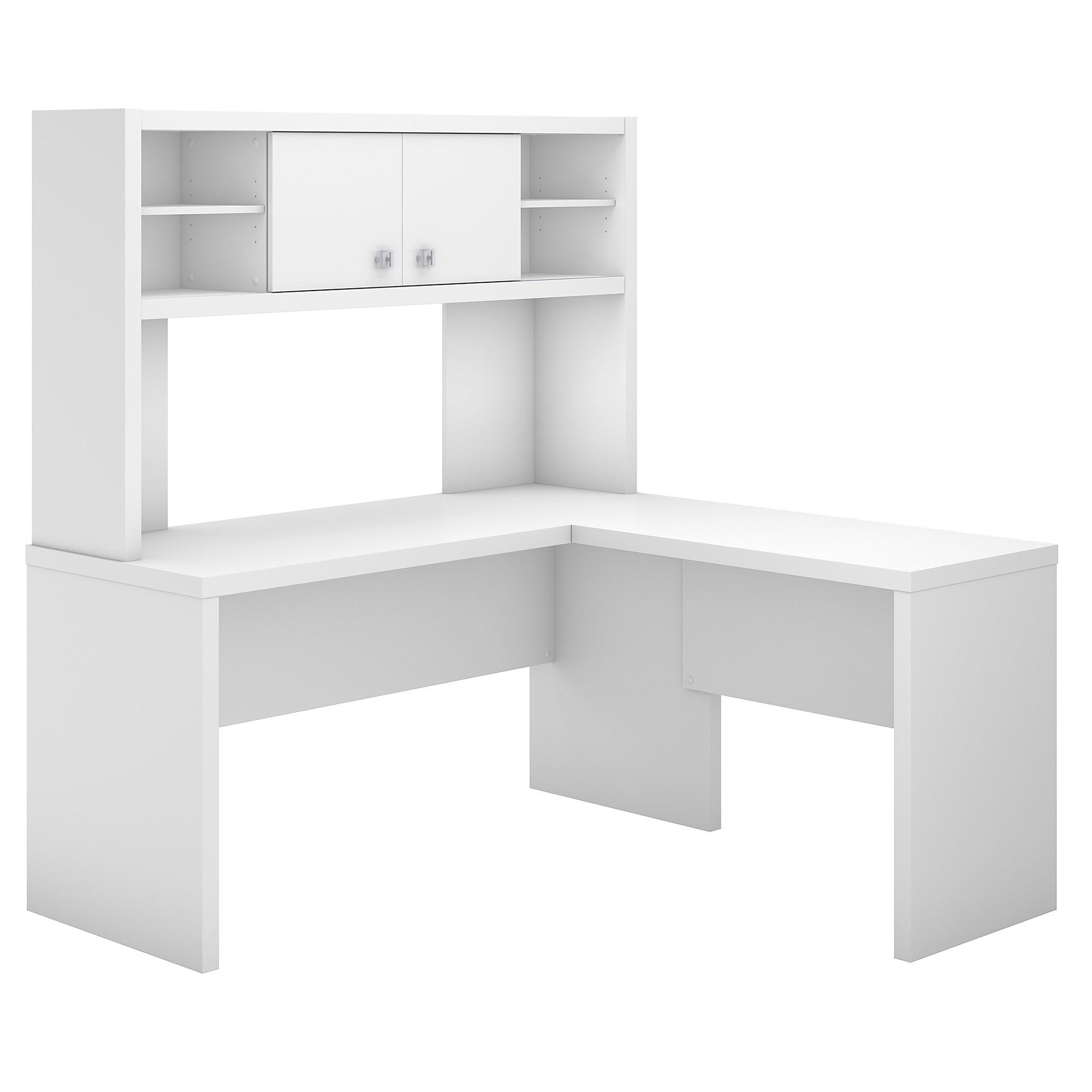 pure white echo l shaped desk