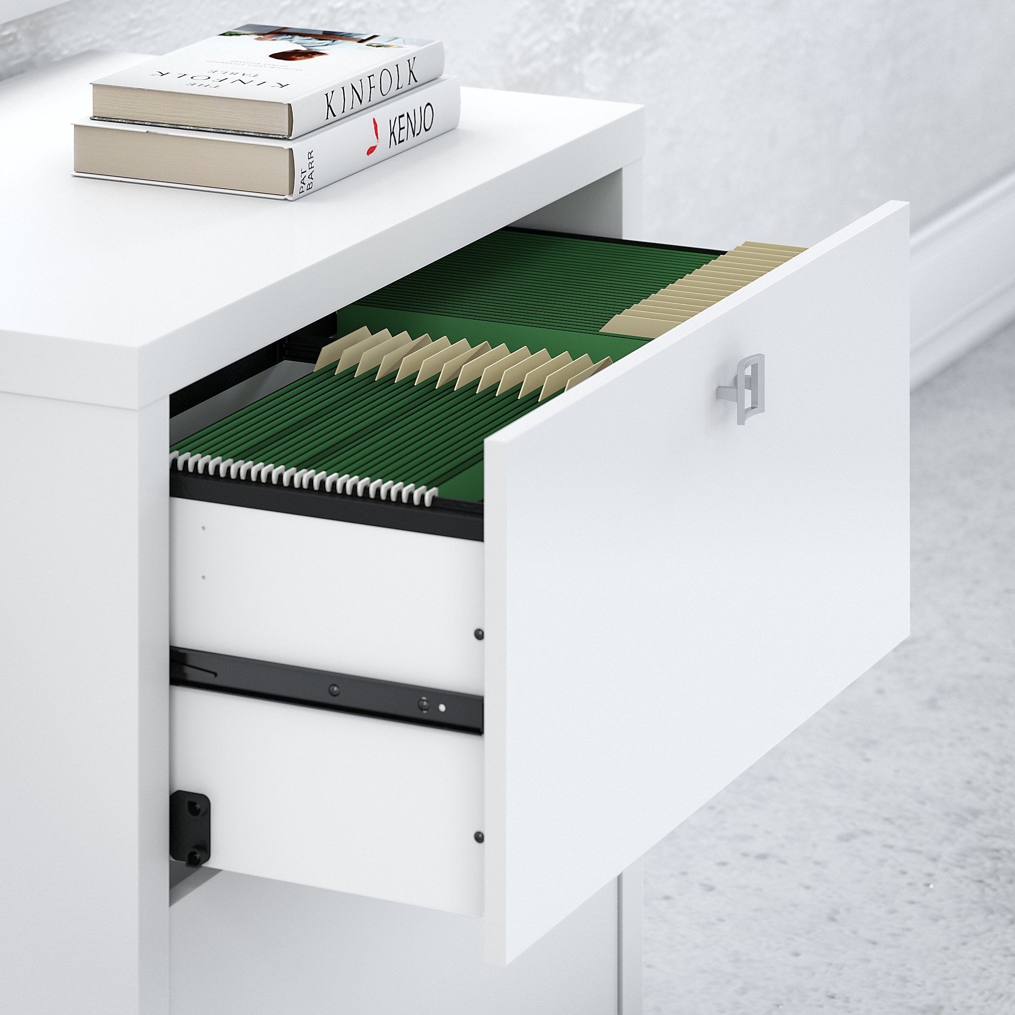 pure white echo lateral file drawer