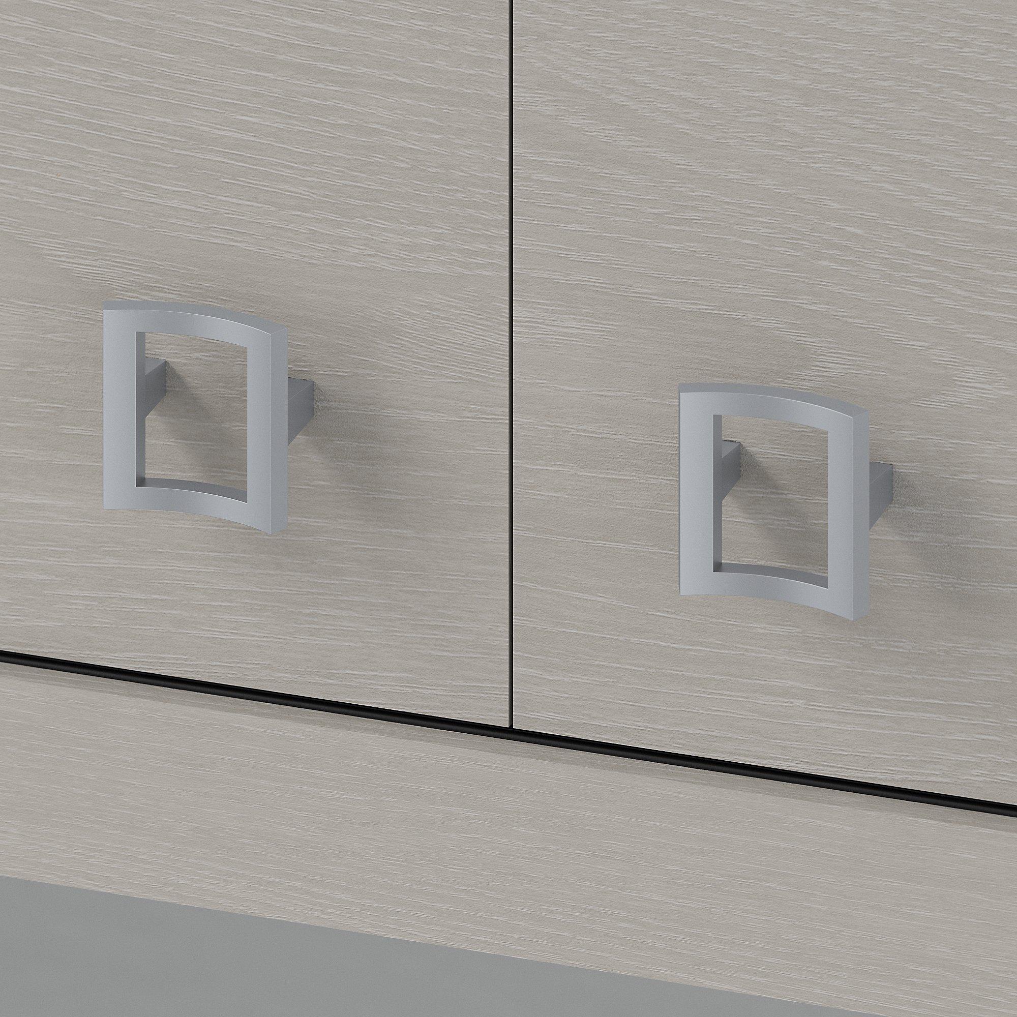 gray sand hutch doors with satin pulls
