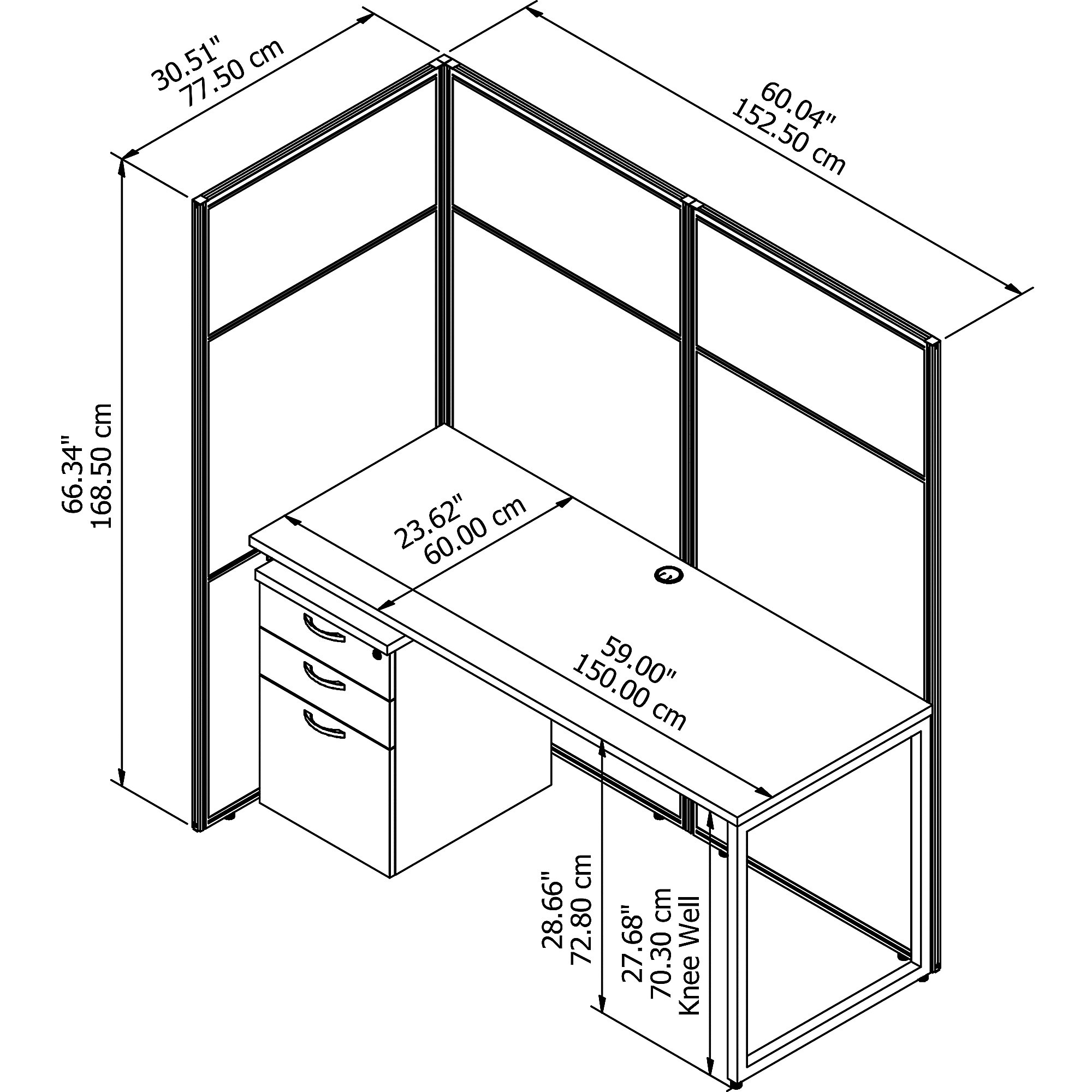 easy office cubicle dimensions